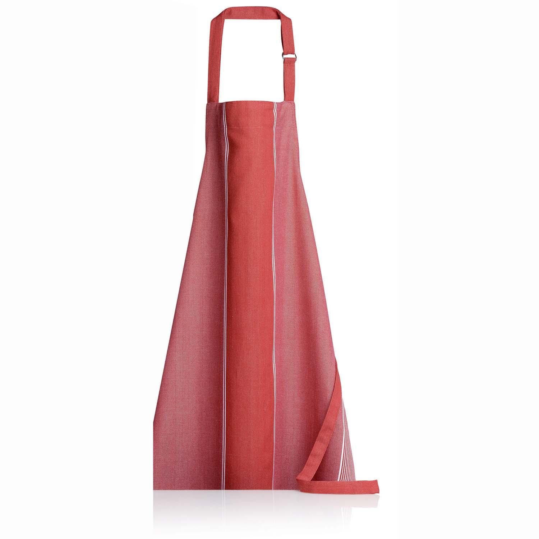 Tablier de cuisine  en coton rouge 80 x 85