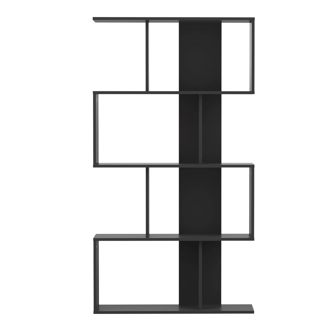 Bibliothèque effet bois Noir et noir