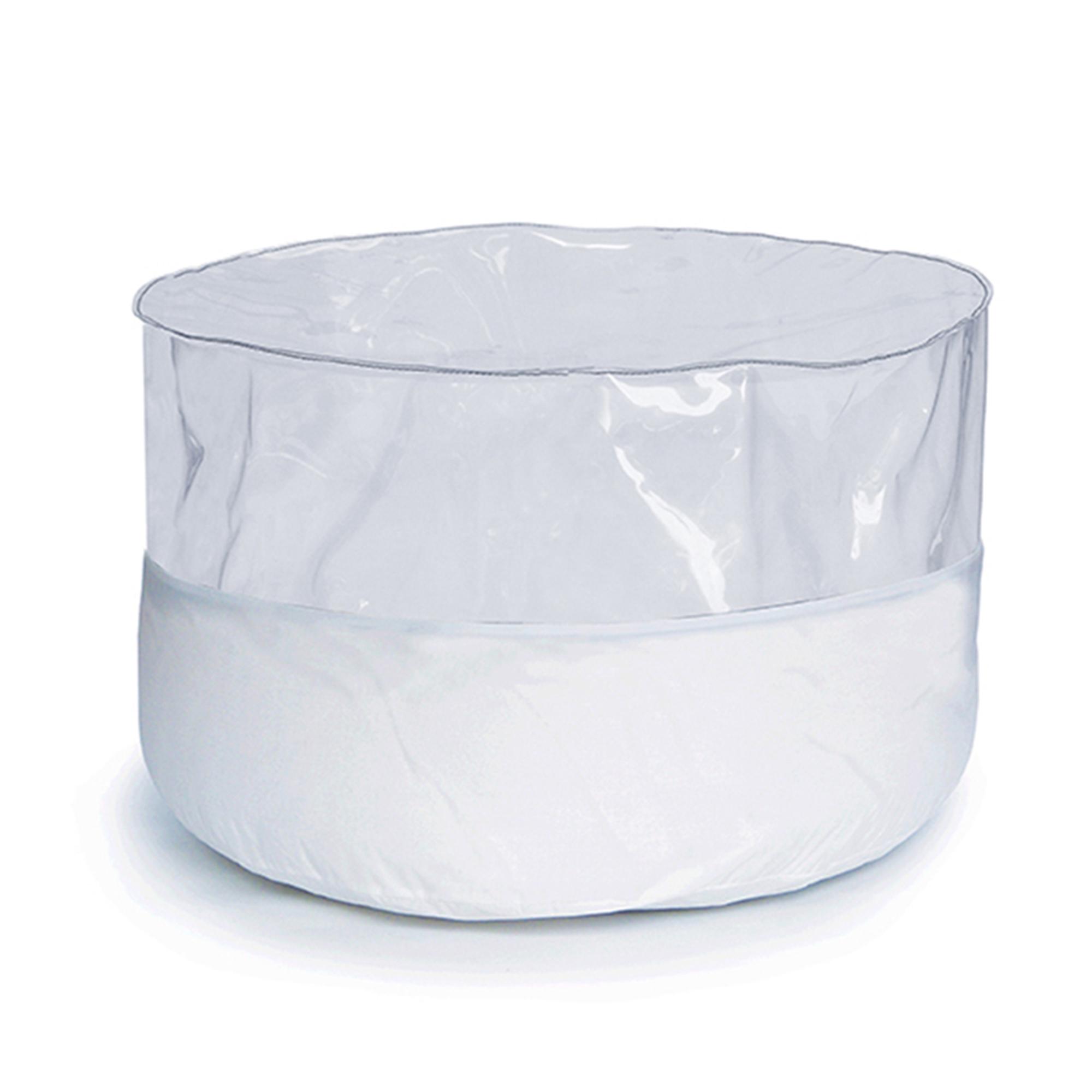 Pouf bicolore blanc à remplir