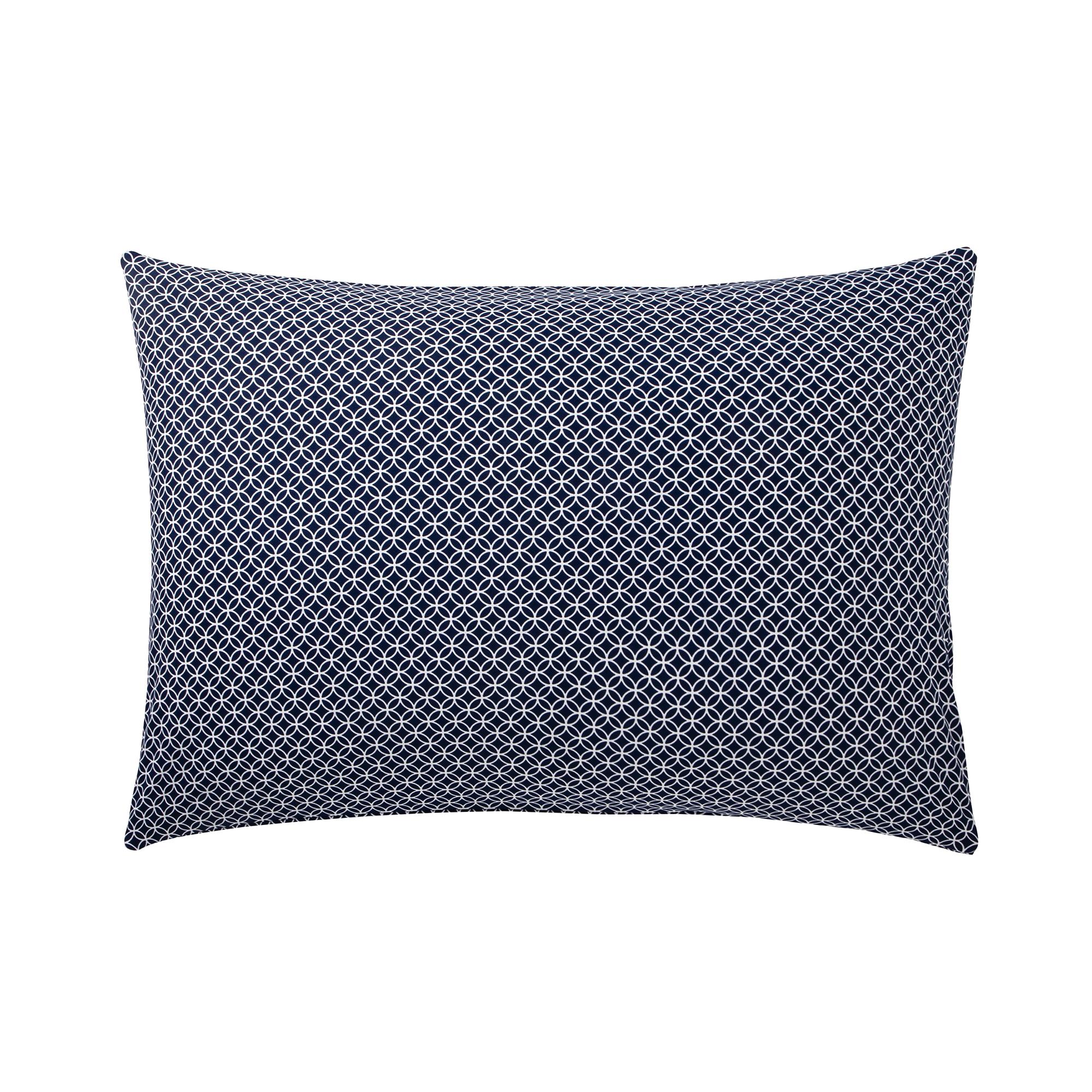 CLAUDIA - Taie d'oreiller bleu en bambou bleu 50 x 70