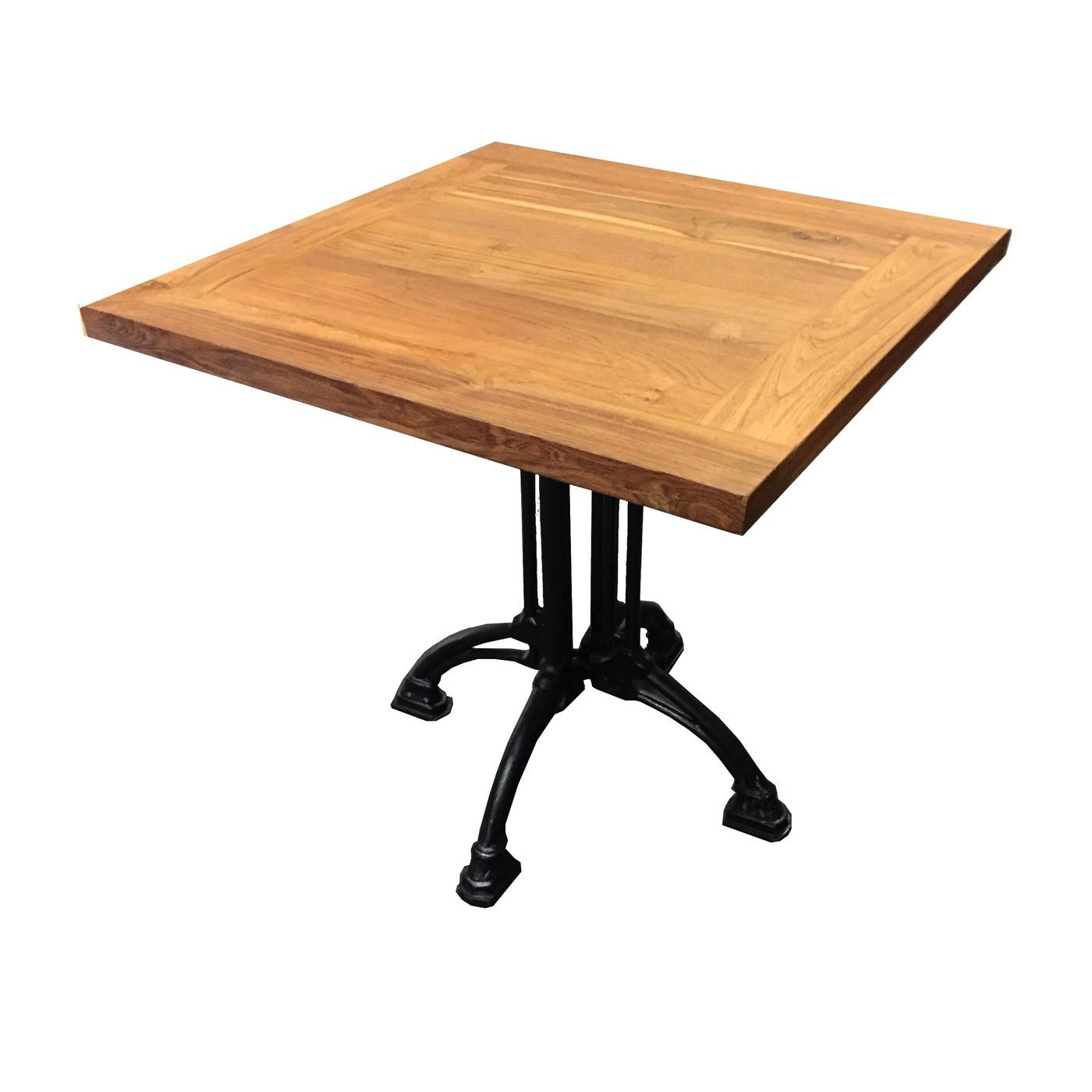 Table carree bois massif