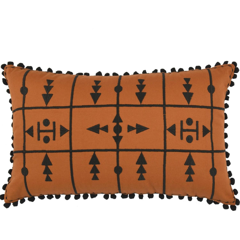 Housse de coussin en coton 50x30 Rouge brique