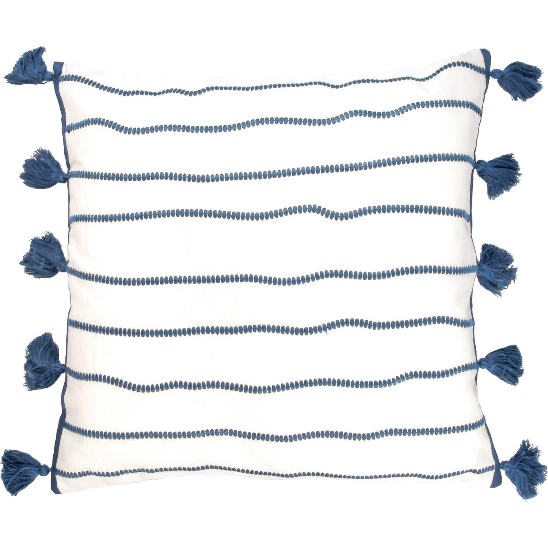 house de coussin en coton 50x50 Bleu pétrole