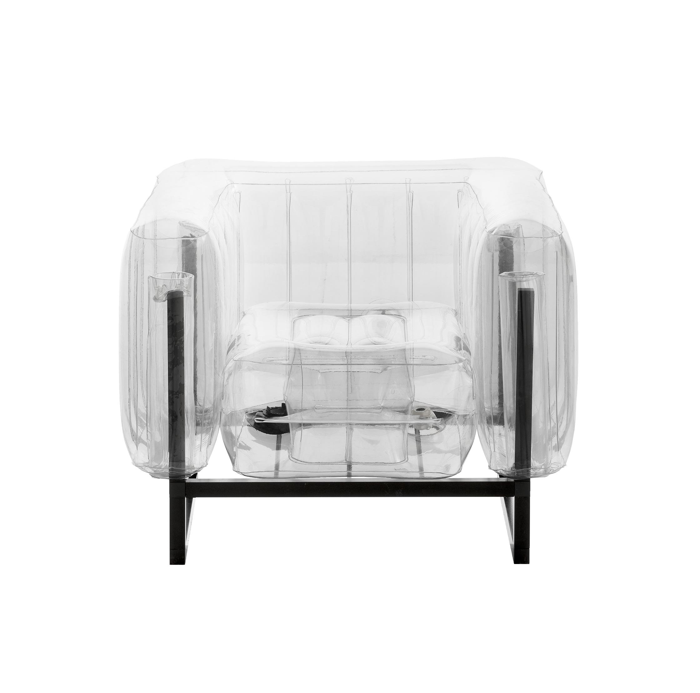 Fauteuil pvc transparent cadre en aluminium