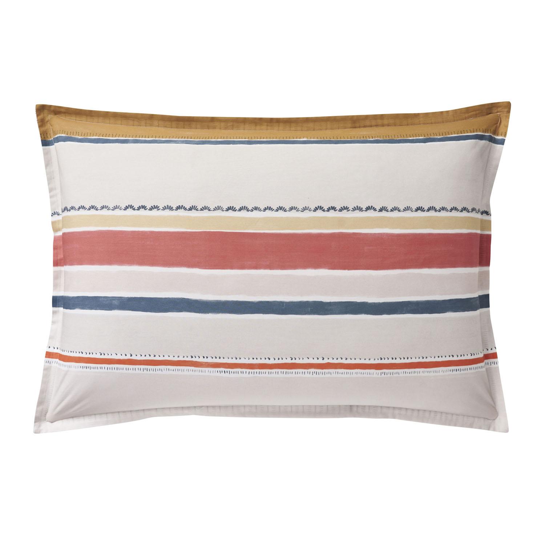 Taie d'oreiller rectangle en coton blanc 50x75