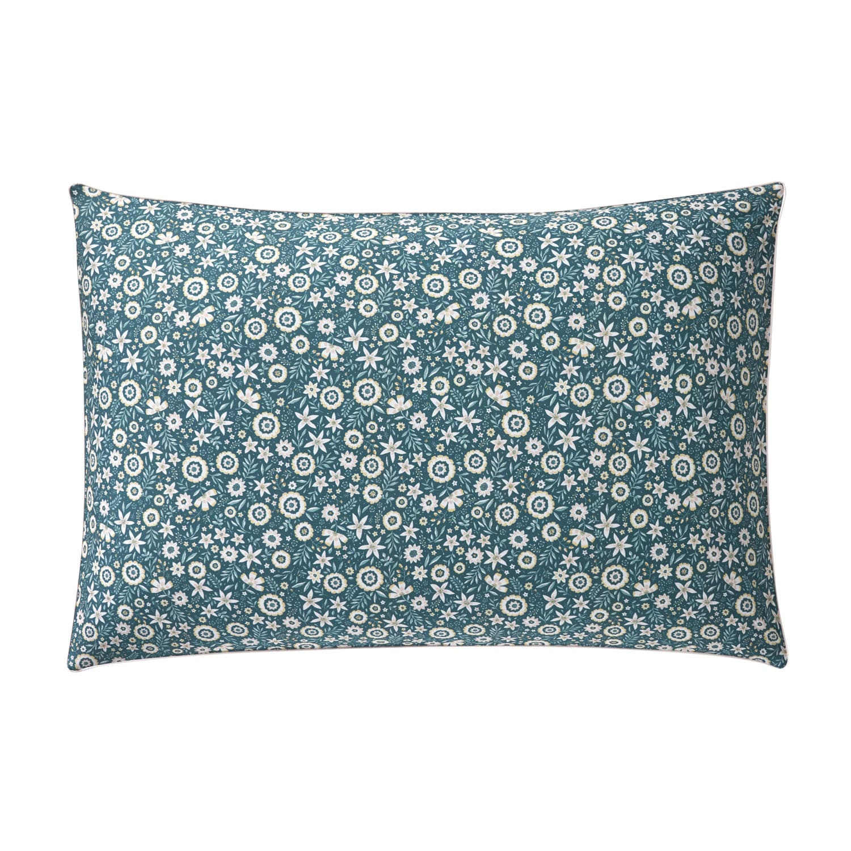 Taie d'oreiller rectangle en coton vert Emeraude 50x75