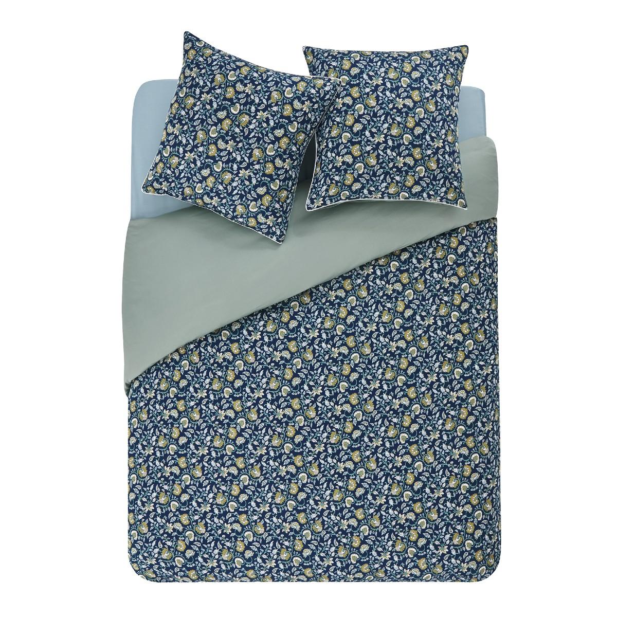 Taie d'oreiller bicolore en coton 65x65