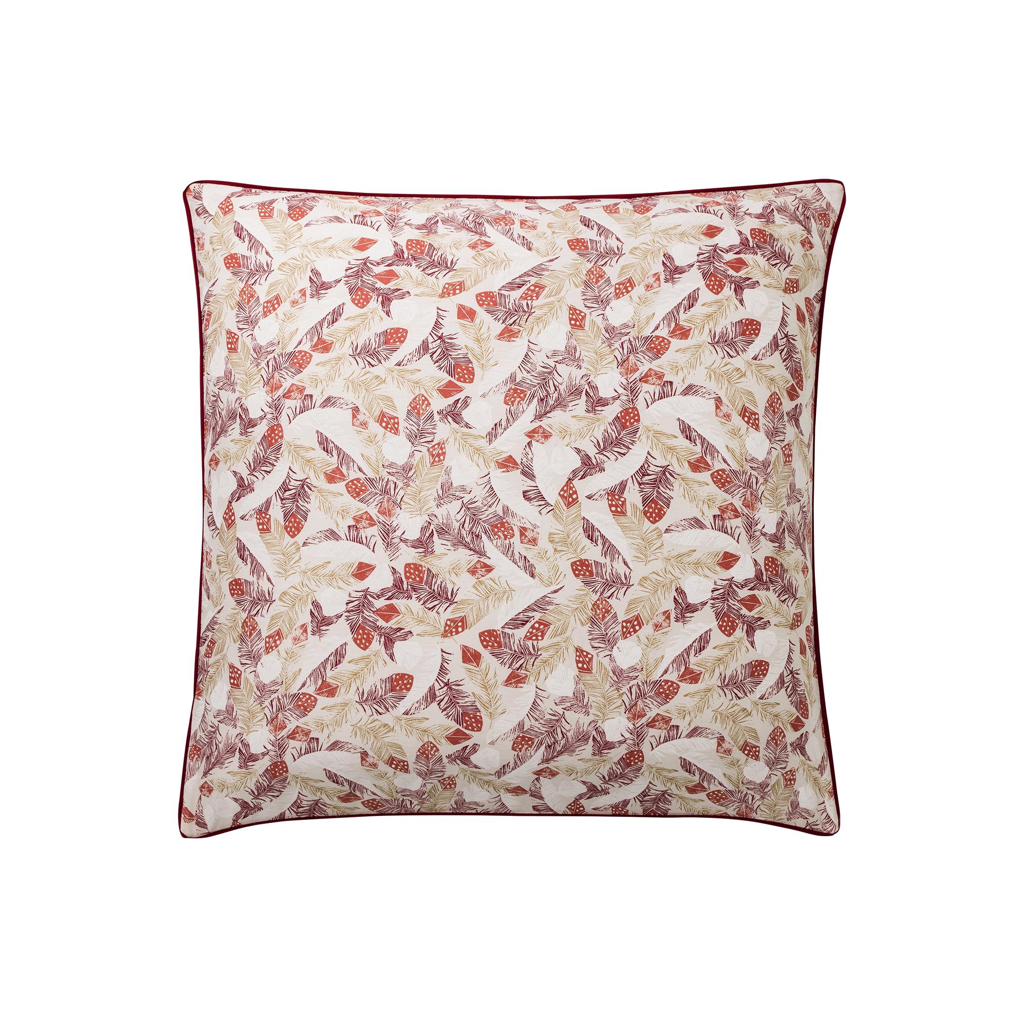 Taie d'oreiller en coton rouge 65x65