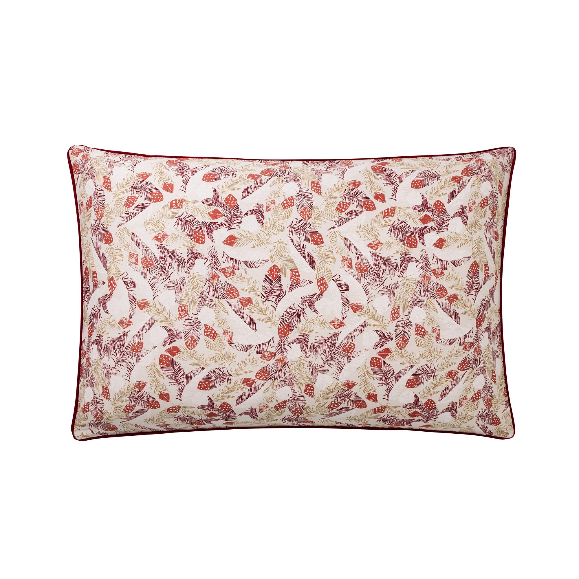 Taie d'oreiller en coton rouge 50x75