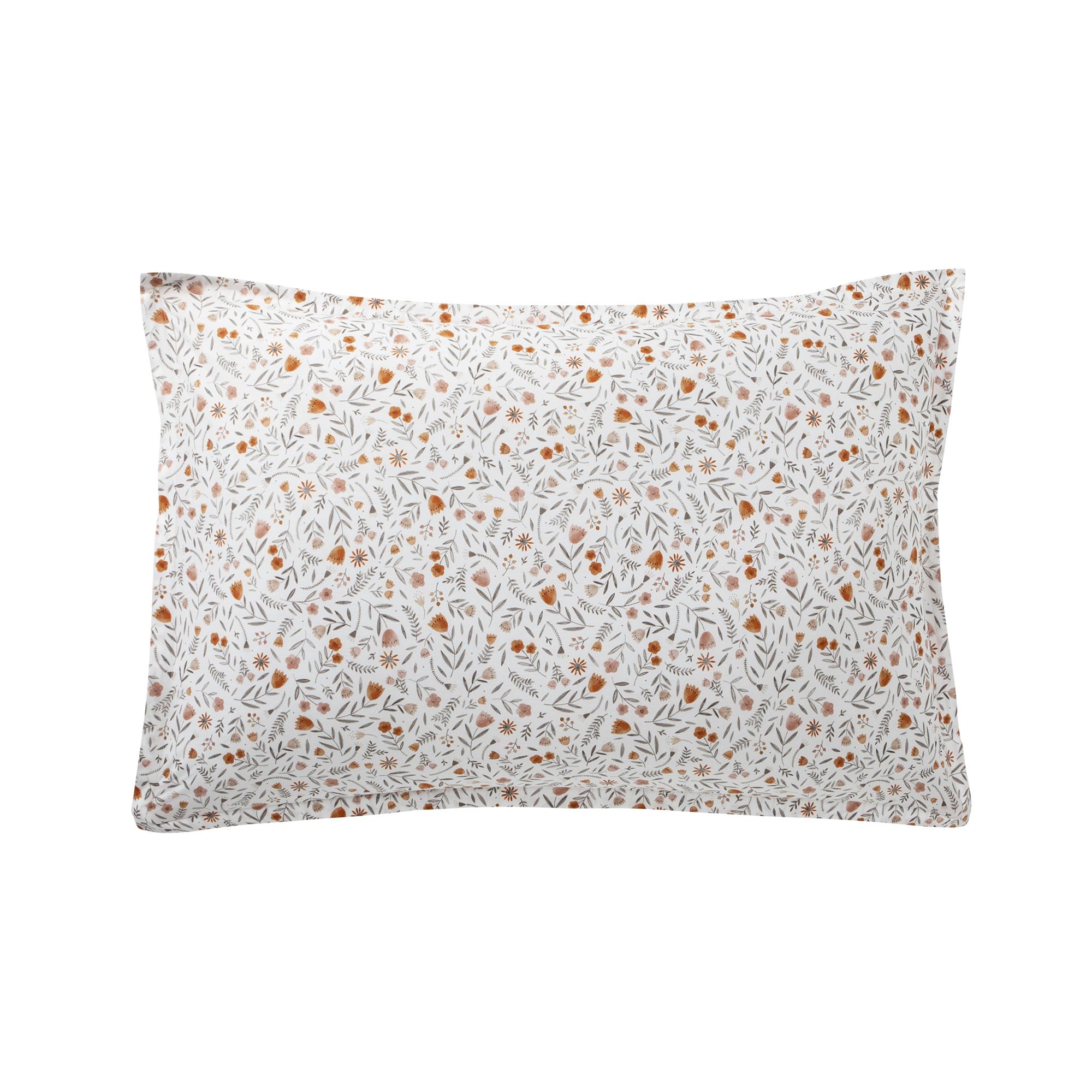 Taie d'oreiller en coton orange 50x75