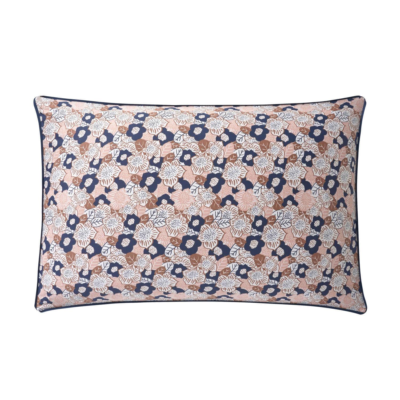 Taie d'oreiller rectangle en coton rose Lingerie 50x75