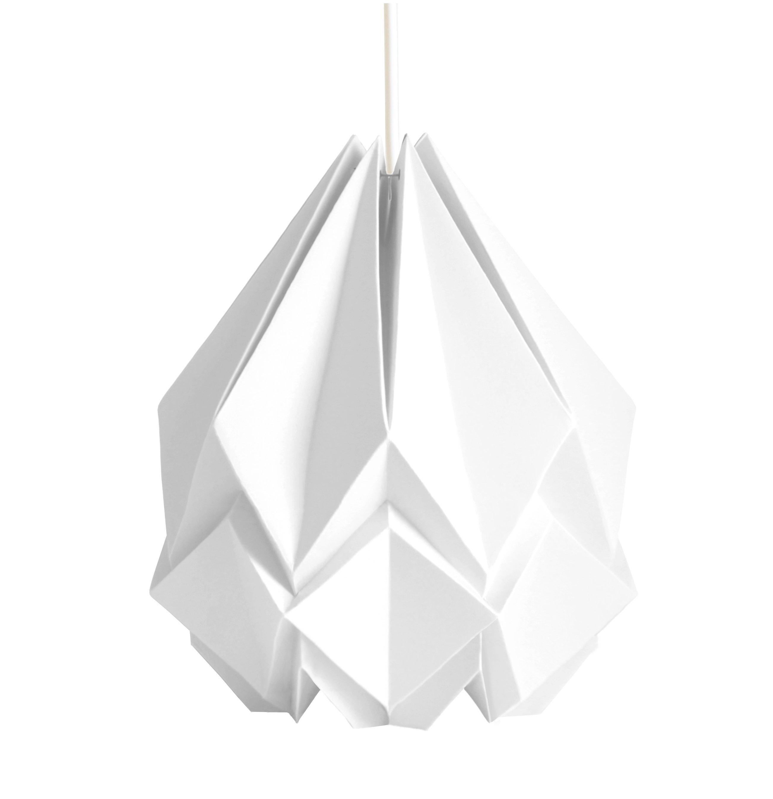 Suspension origami couleur unie en papier taille L
