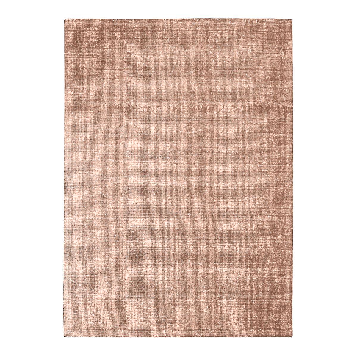 Tapis en laine et coton rose nude 160x230