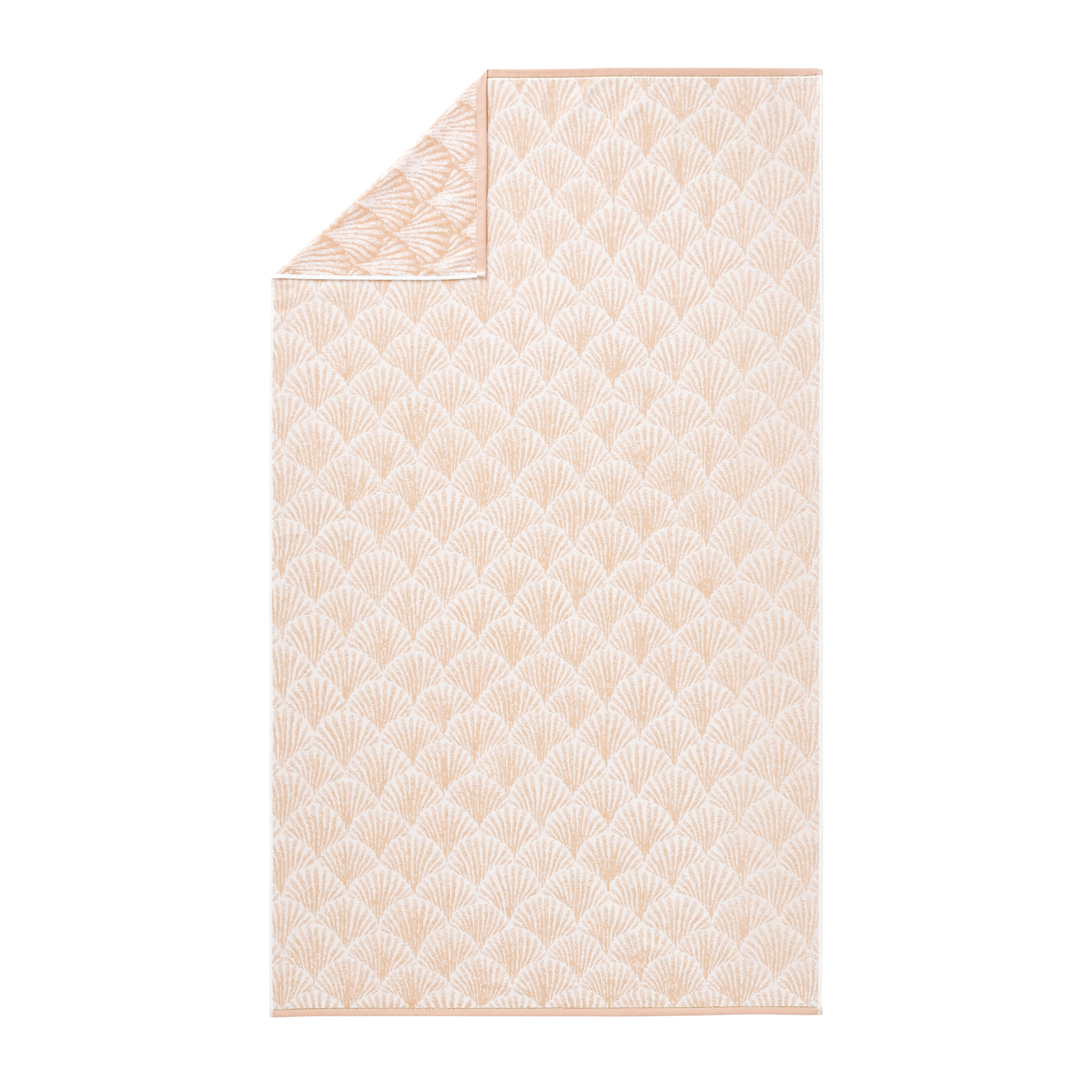 Drap de plage en jacquard de coton rose  100x180
