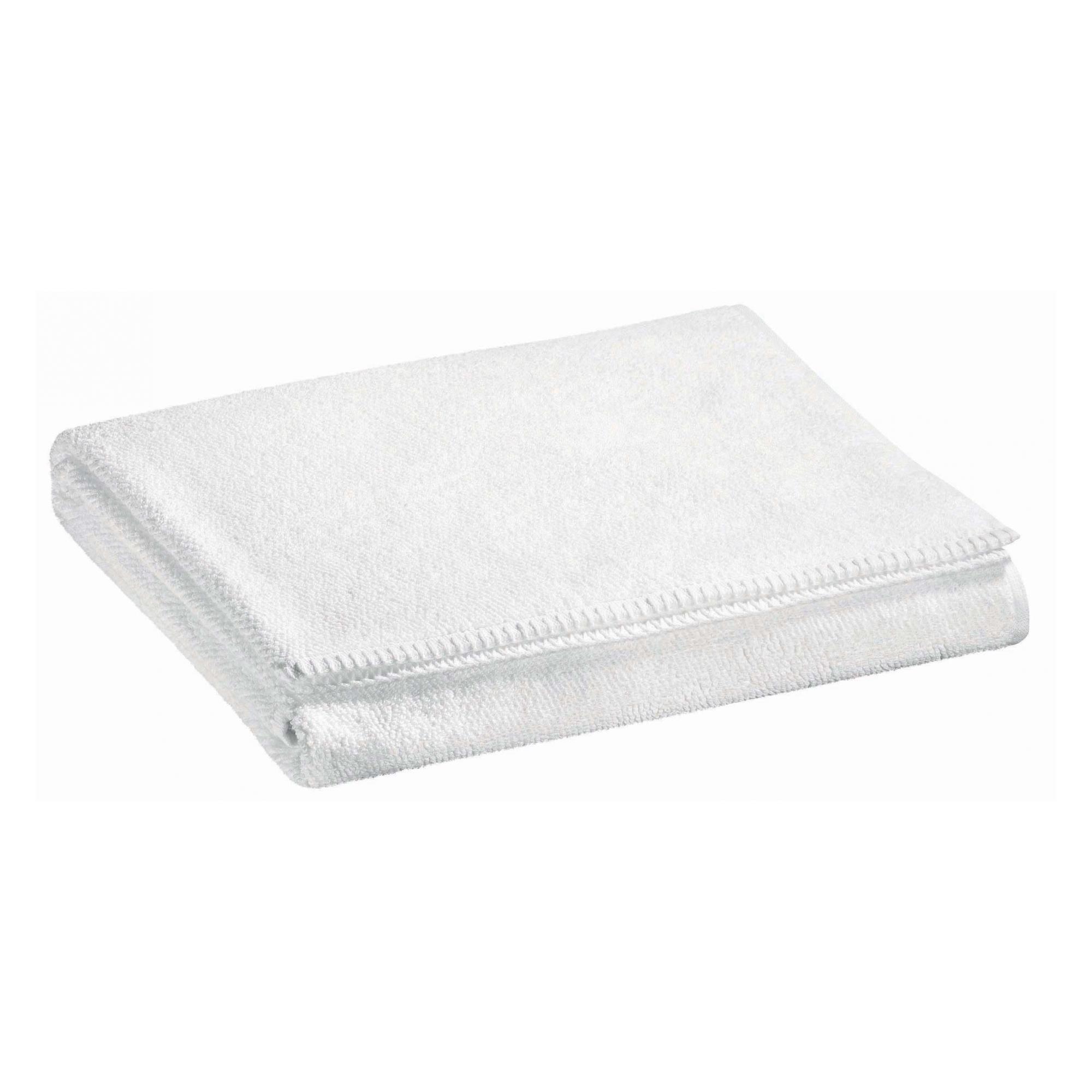 Drap de douche en coton blanc 70 x 130