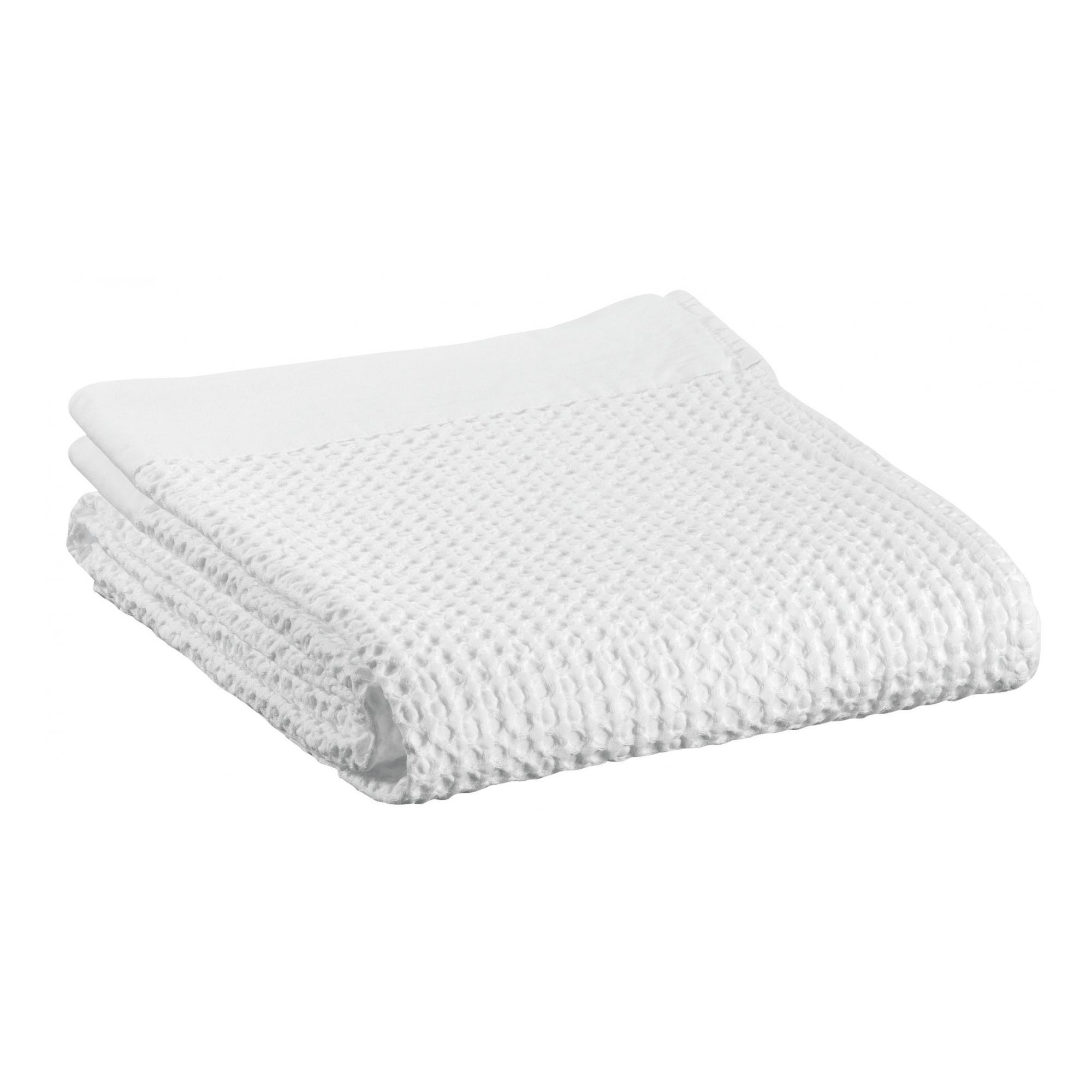 Drap de douche en coton neige 70 x 140