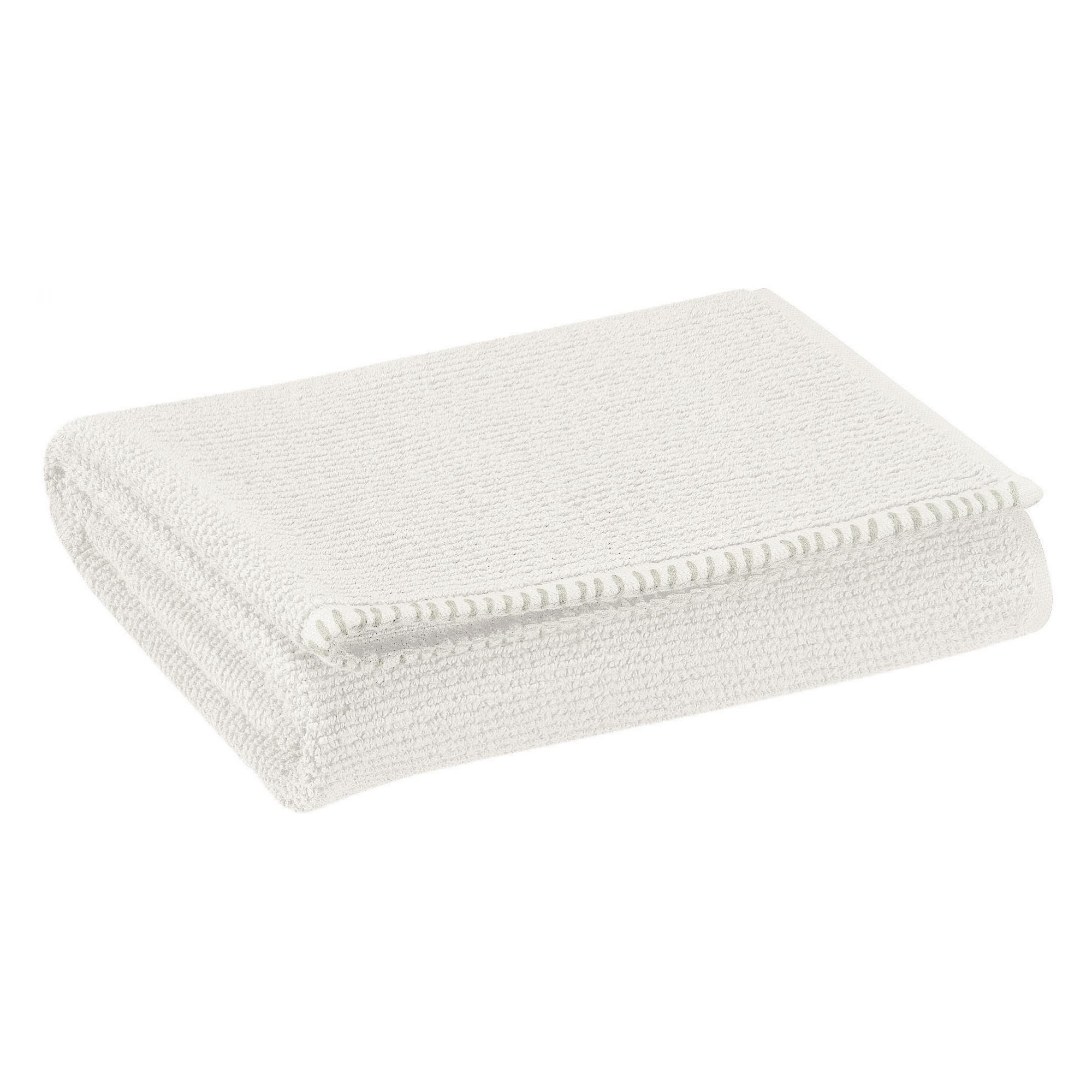 Drap de douche en coton neige 70 x 130