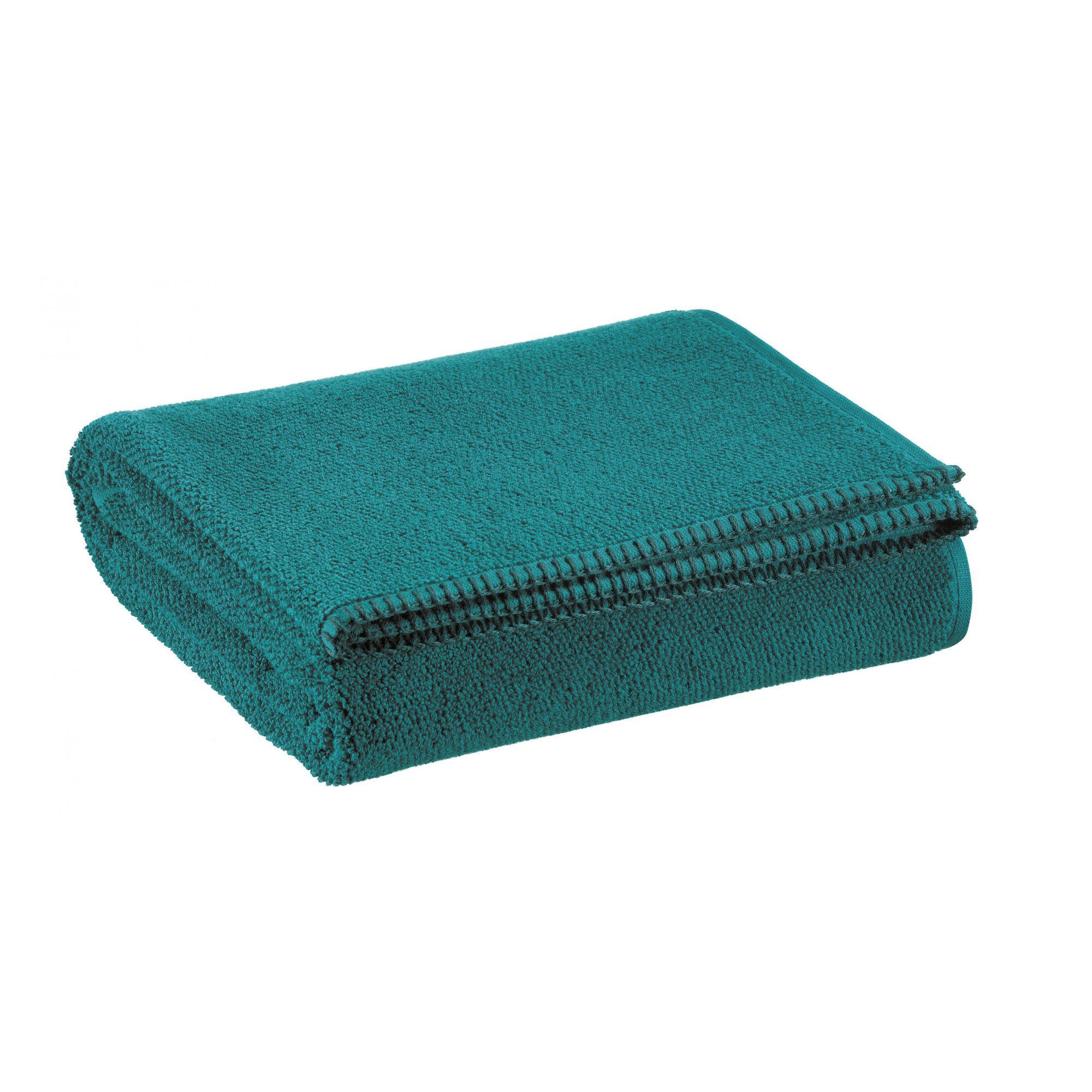 Drap de douche en coton paon 70 x 130