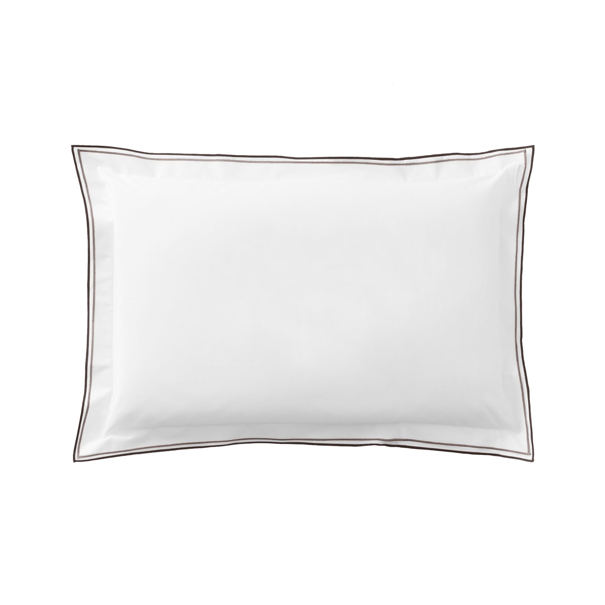 Taie d'oreiller unie en coton naturel 50x75
