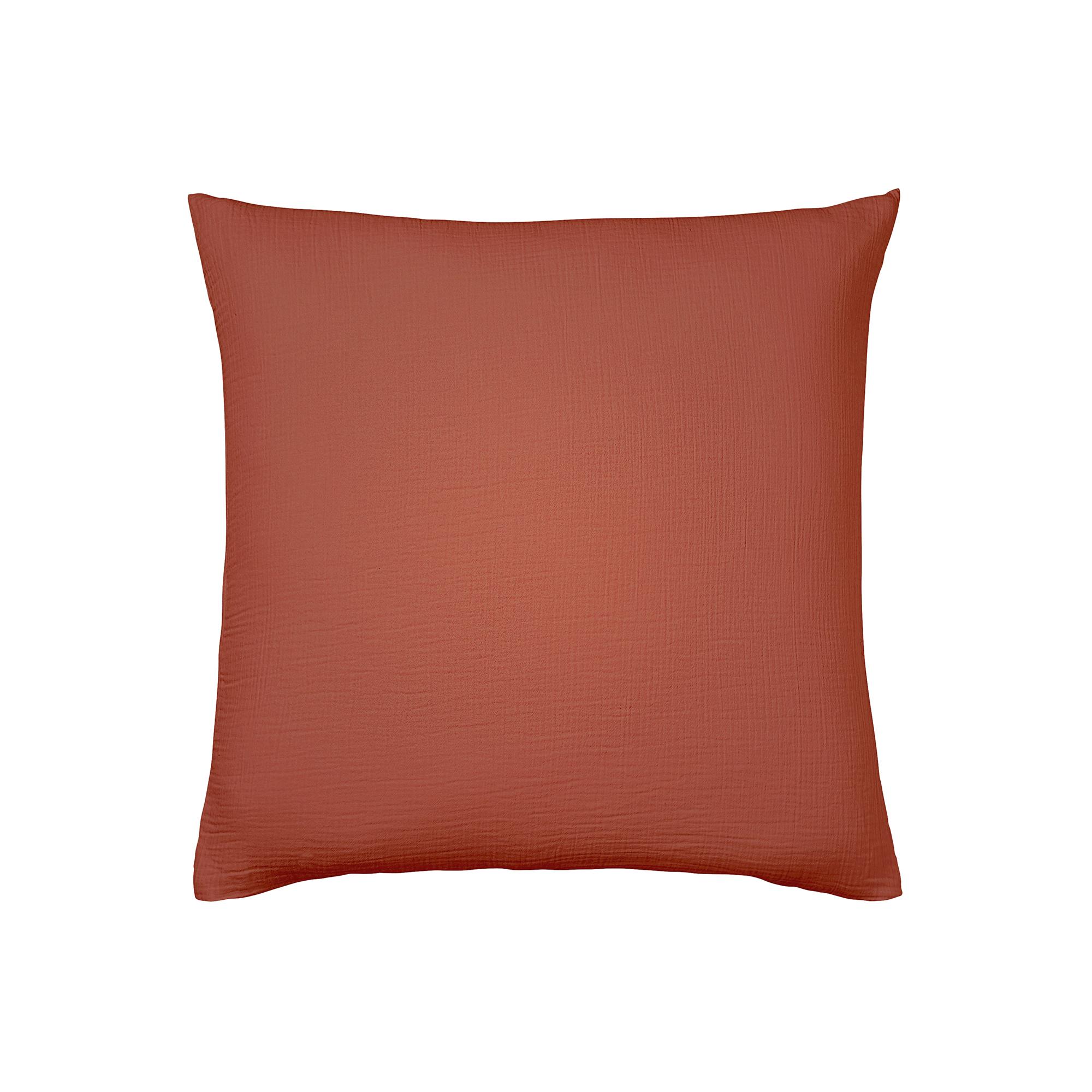 Taie d'oreiller en coton orange 65x65