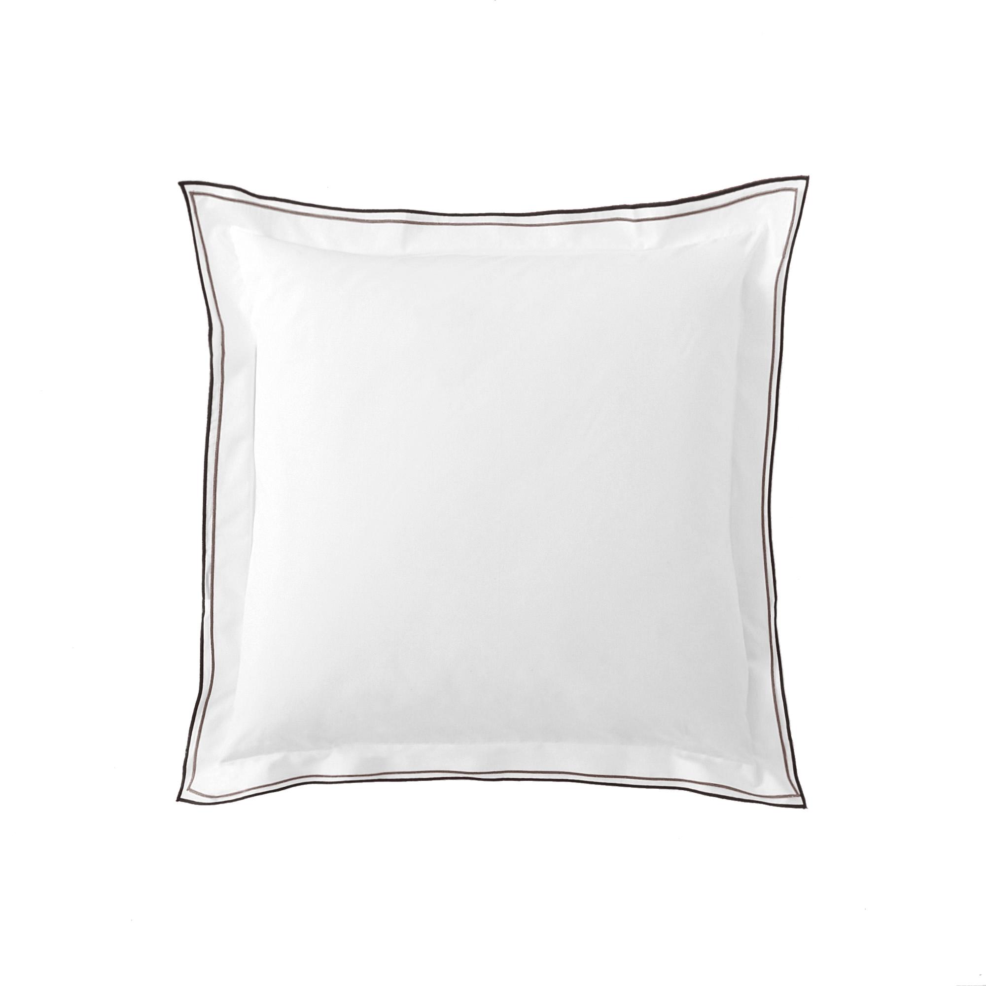 Taie d'oreiller unie en coton naturel 64x64