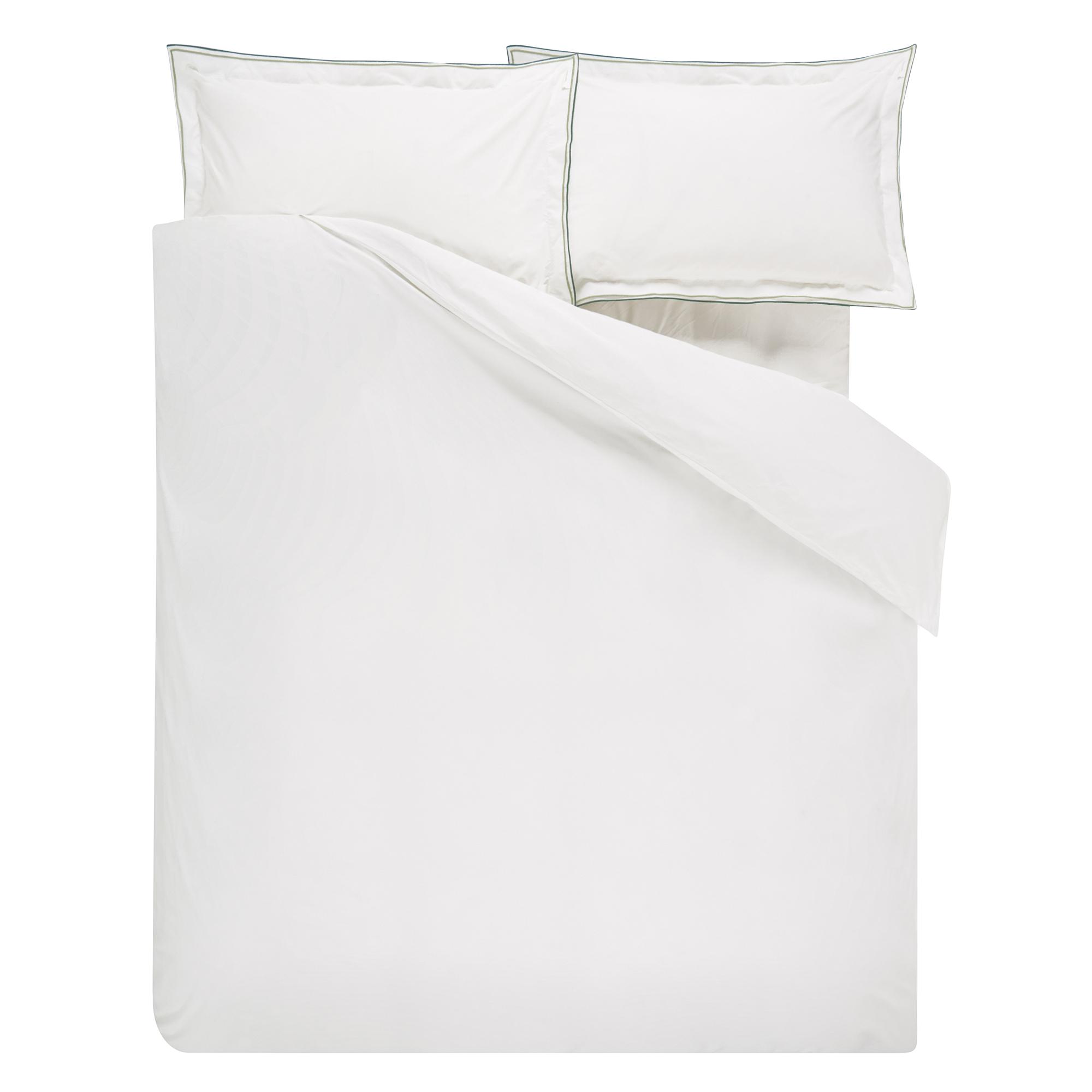 Housse de couette en coton blanc 240x220