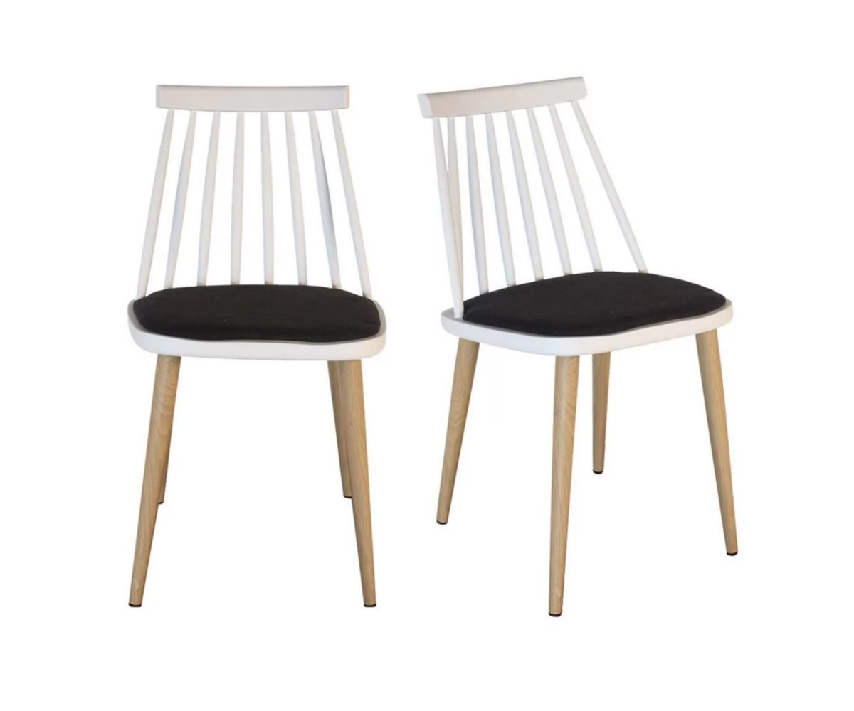 Lot 2 chaises design Blanc