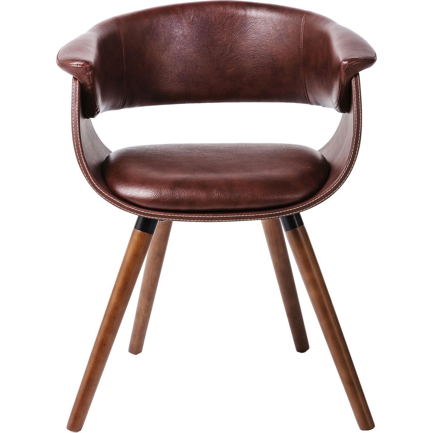 Chaise avec accoudoirs nougat et peuplier laqué