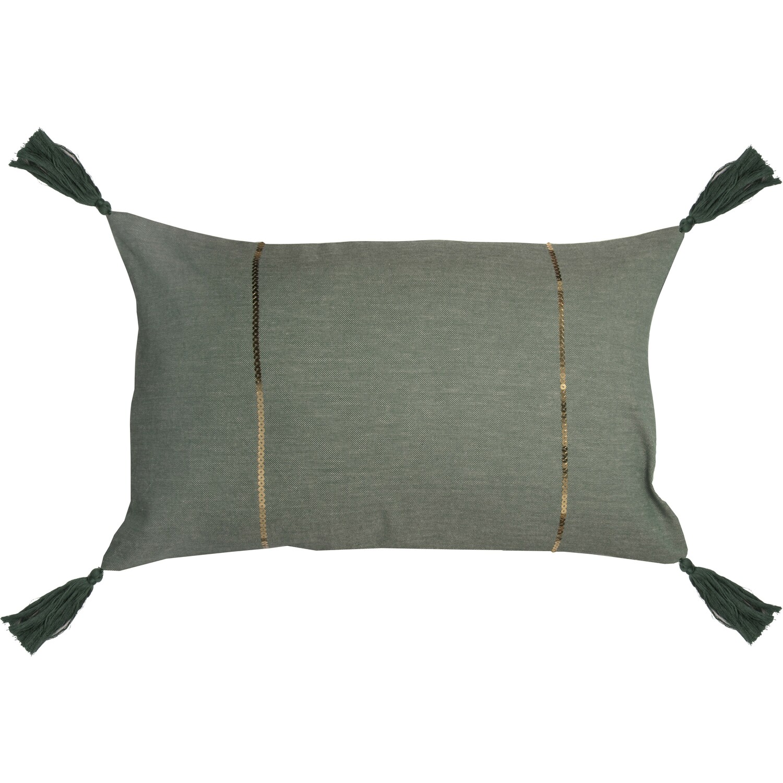 Housse de coussin en coton 50x30 Vert