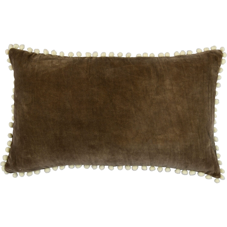 Housse de coussin en velour de coton 50x30 Ecorce naturel