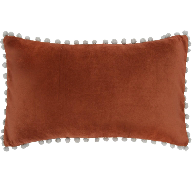 Housse de coussin en velour de coton 50x30 Rouge brique