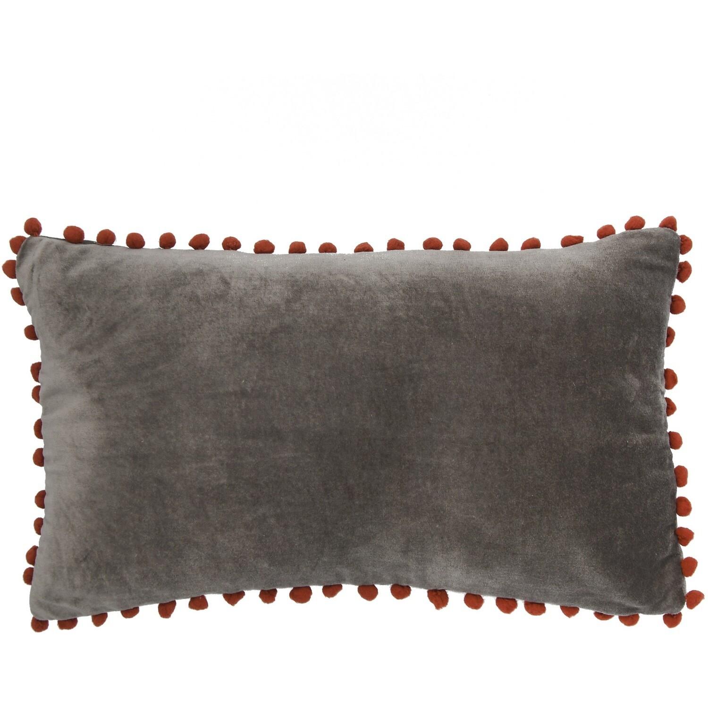 Housse de coussin en velour de coton 50x30 Granit