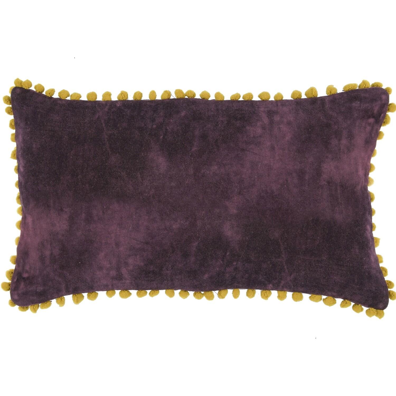 Housse de coussin en velour de coton 50x30 Violet chianti