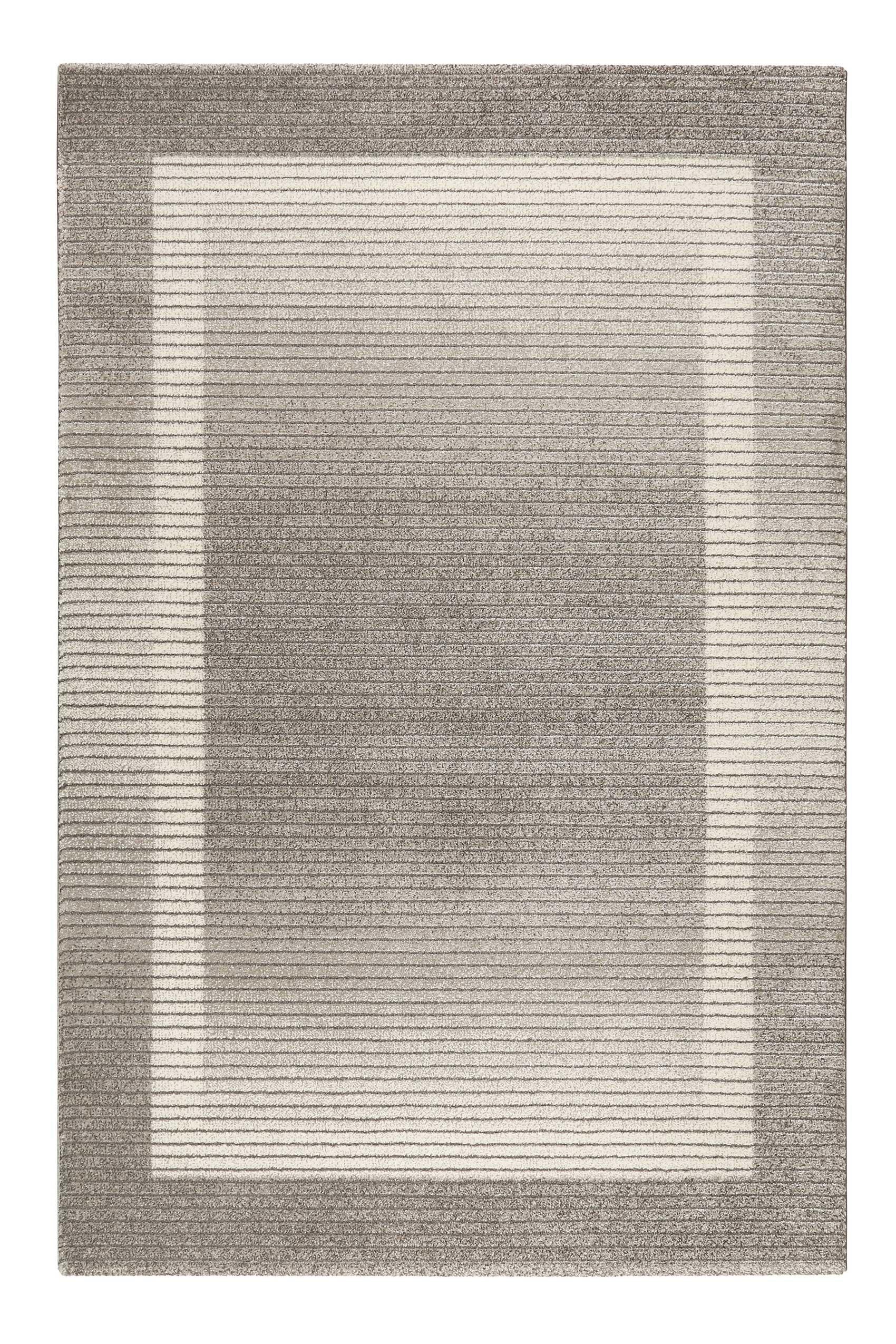 Tapis à relief sobre et élégant à poils courts nuances de gris 225x160