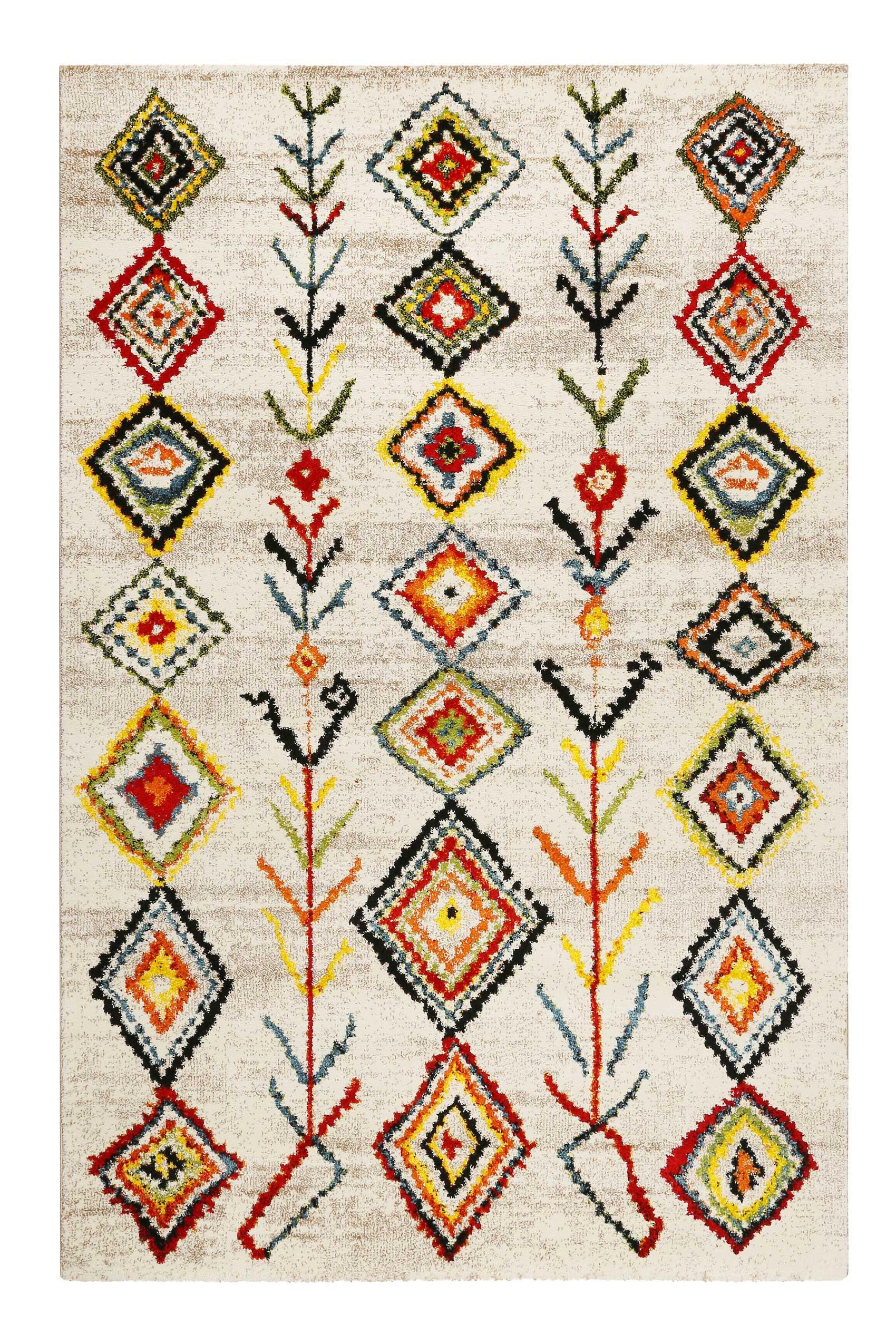 Tapis inspiration berbère multicolore pour salon, chambre 290x200