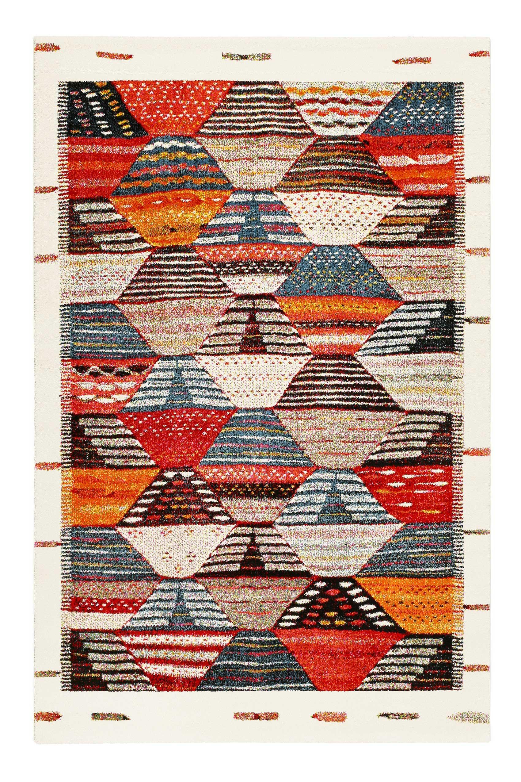 Tapis inspiration berbère multicolore pour salon, chambre 200x133