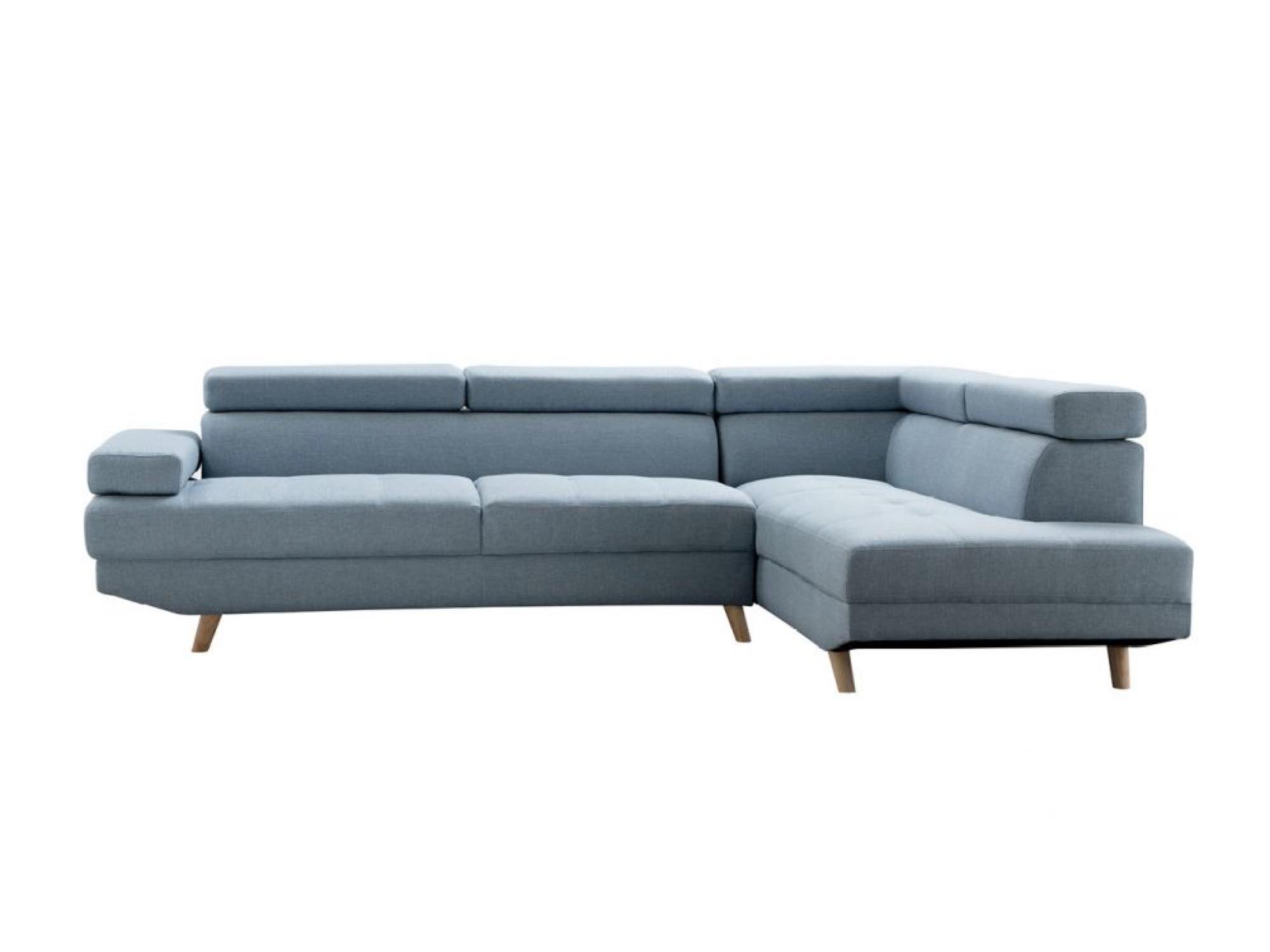 Canapé d'angle 4 places Bleu Tissu Design Confort