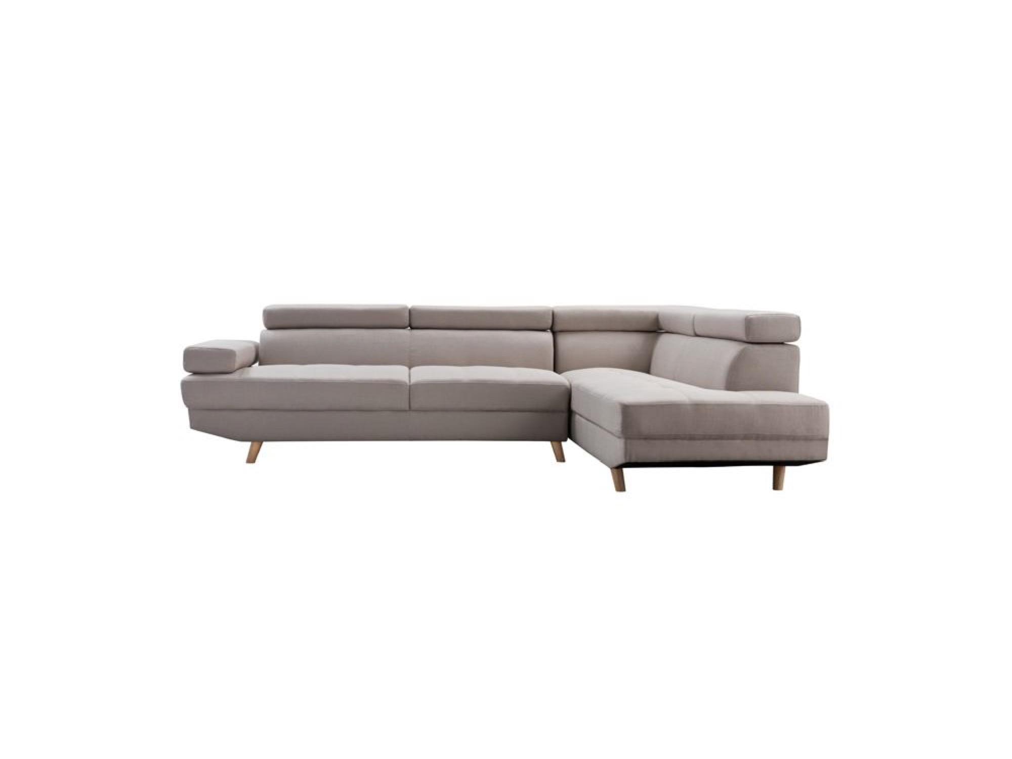 Canapé d'angle 4 places Beige Tissu Design Confort