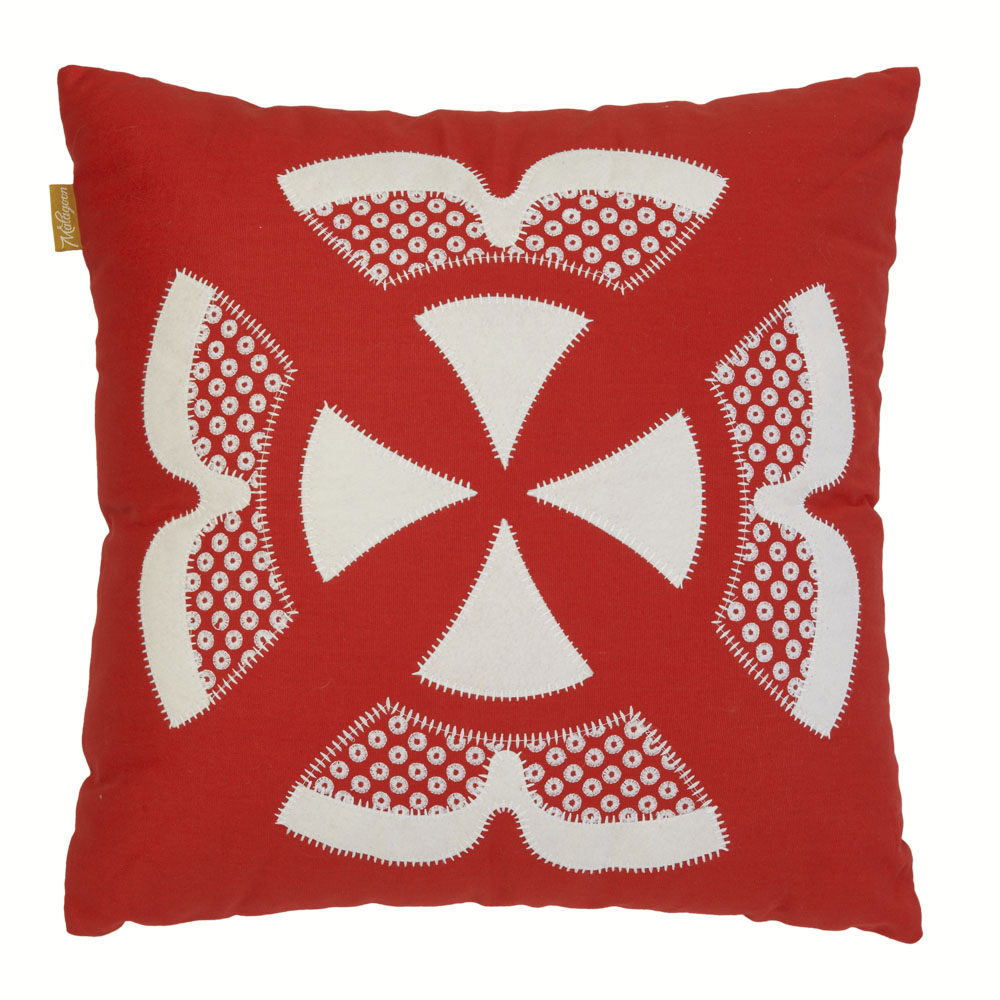 Coussin rouge 50x50