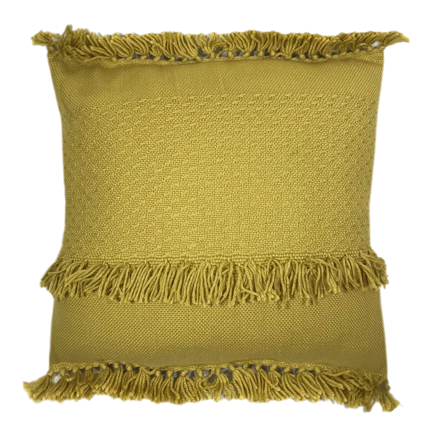 Coussin jaune moutarde 50x50