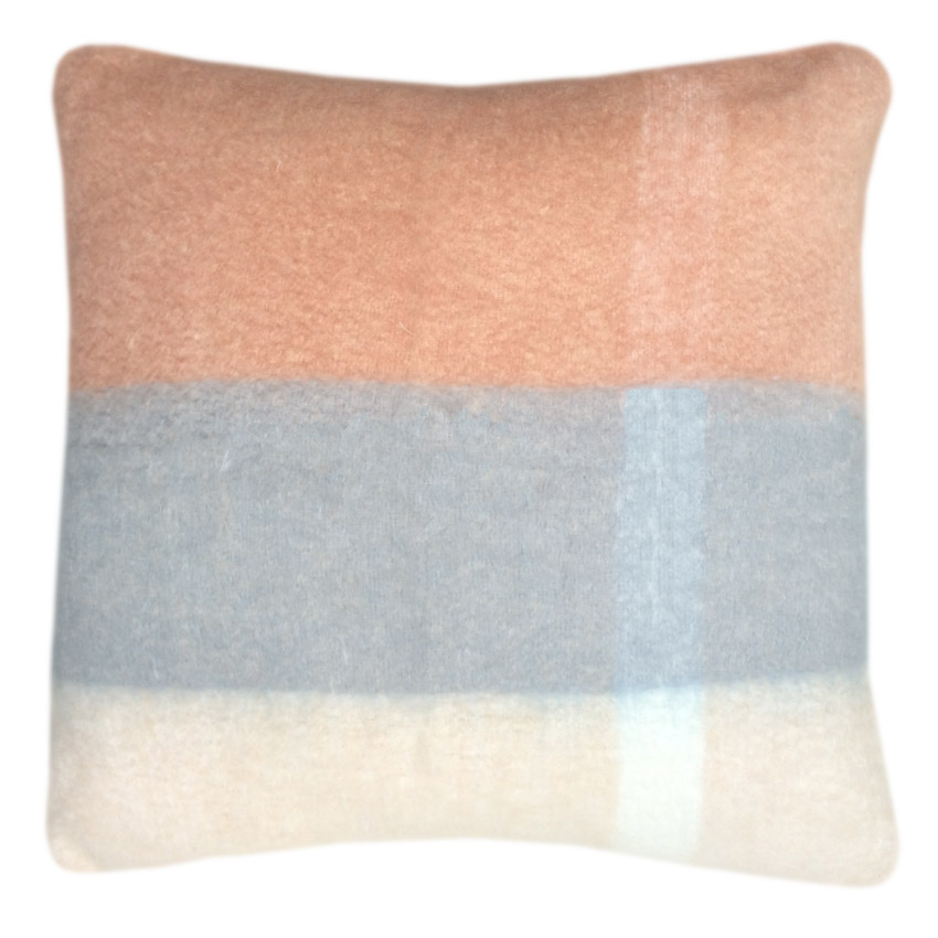 Coussin rose pêche 60x60