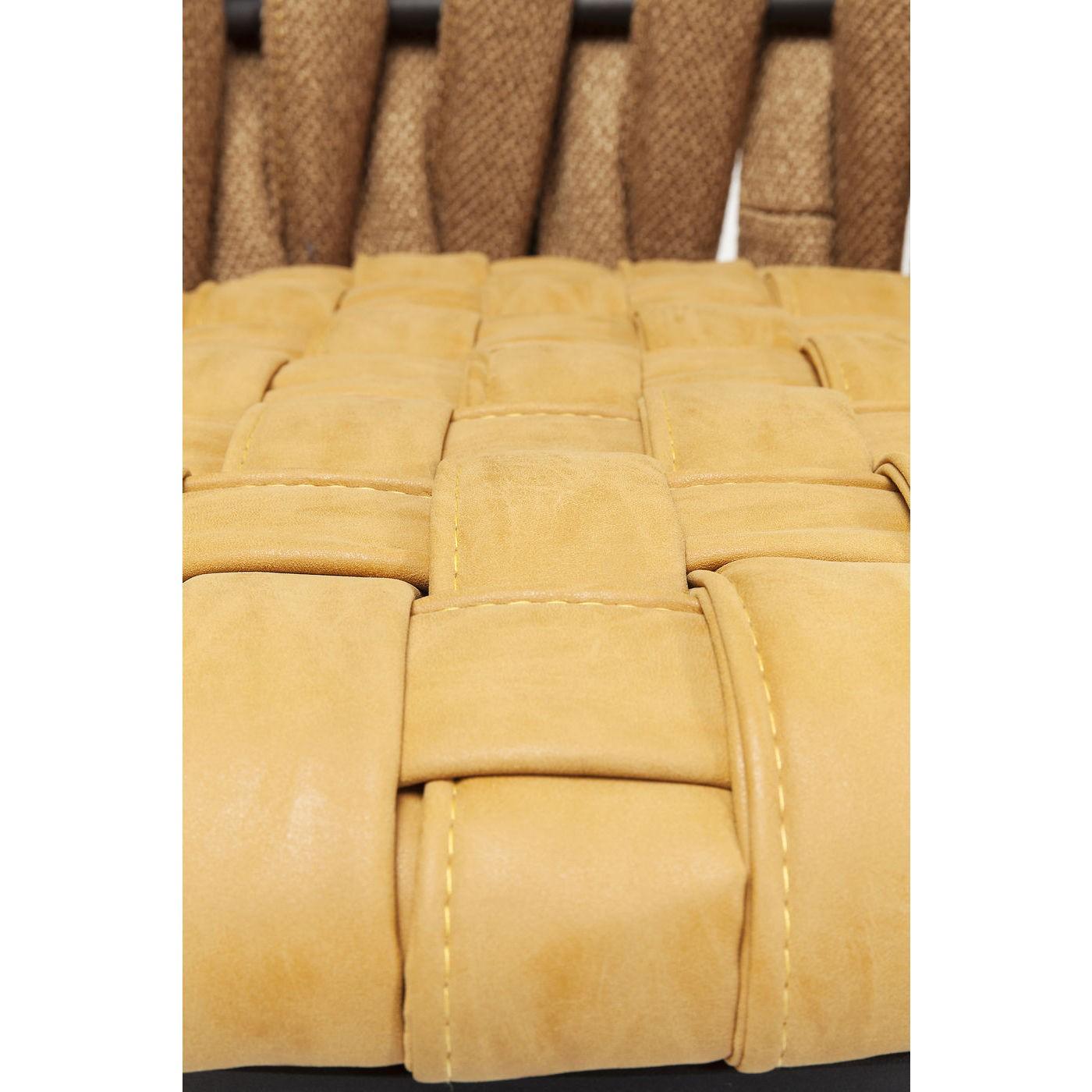Chaise avec accoudoirs jaune et acier