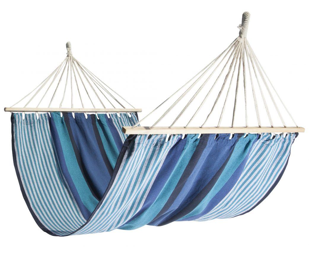 Hamac simple à barre en tissu blue