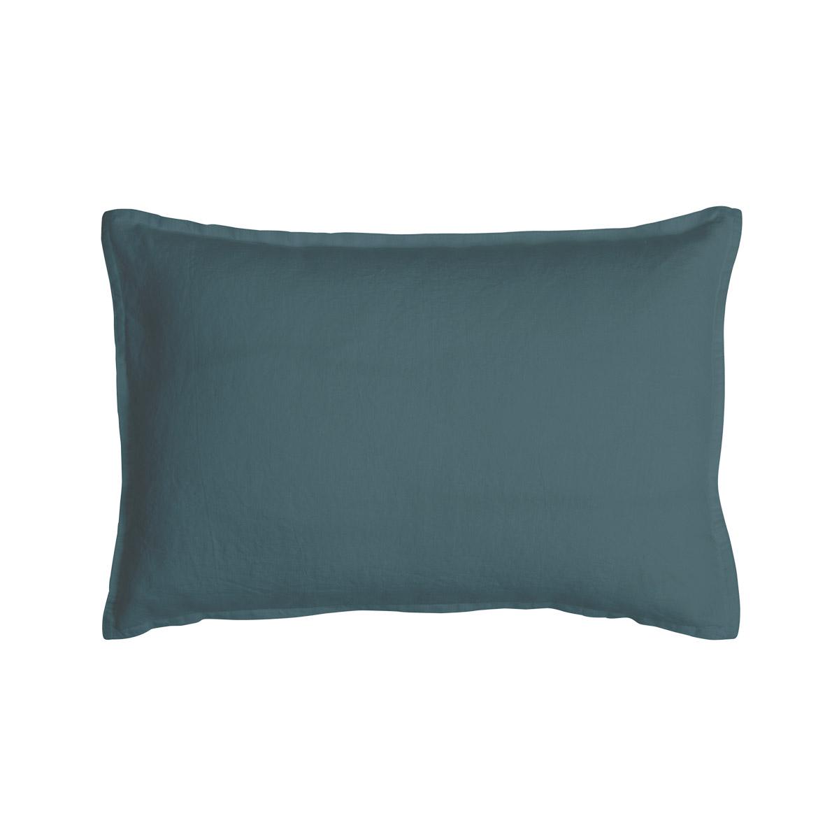Taie d'oreiller 100 % Lin Bleu 30 x 40 cm