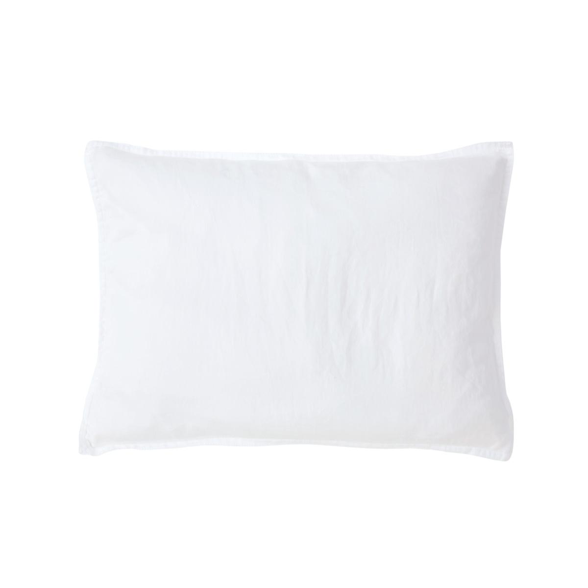 Taie d'oreiller satin Blanc 30 x 40 cm