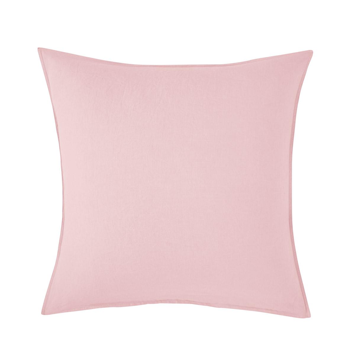 Taie d'oreiller 100 % Lin Rose 65 x 65 cm