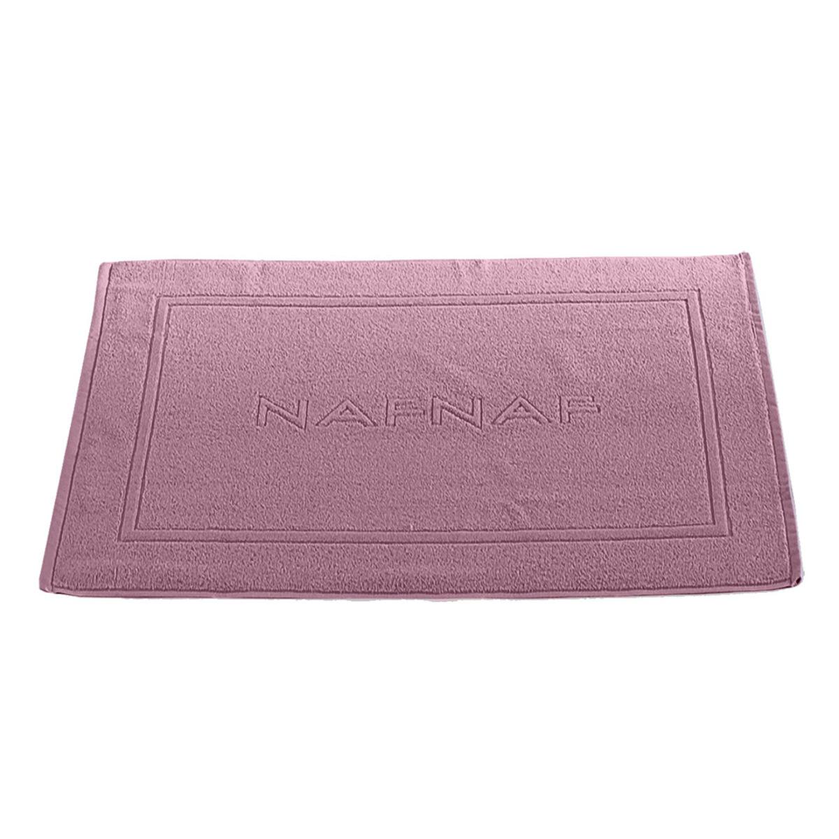 Tapis de bain 750gr/m2 en coton mauve 50x80