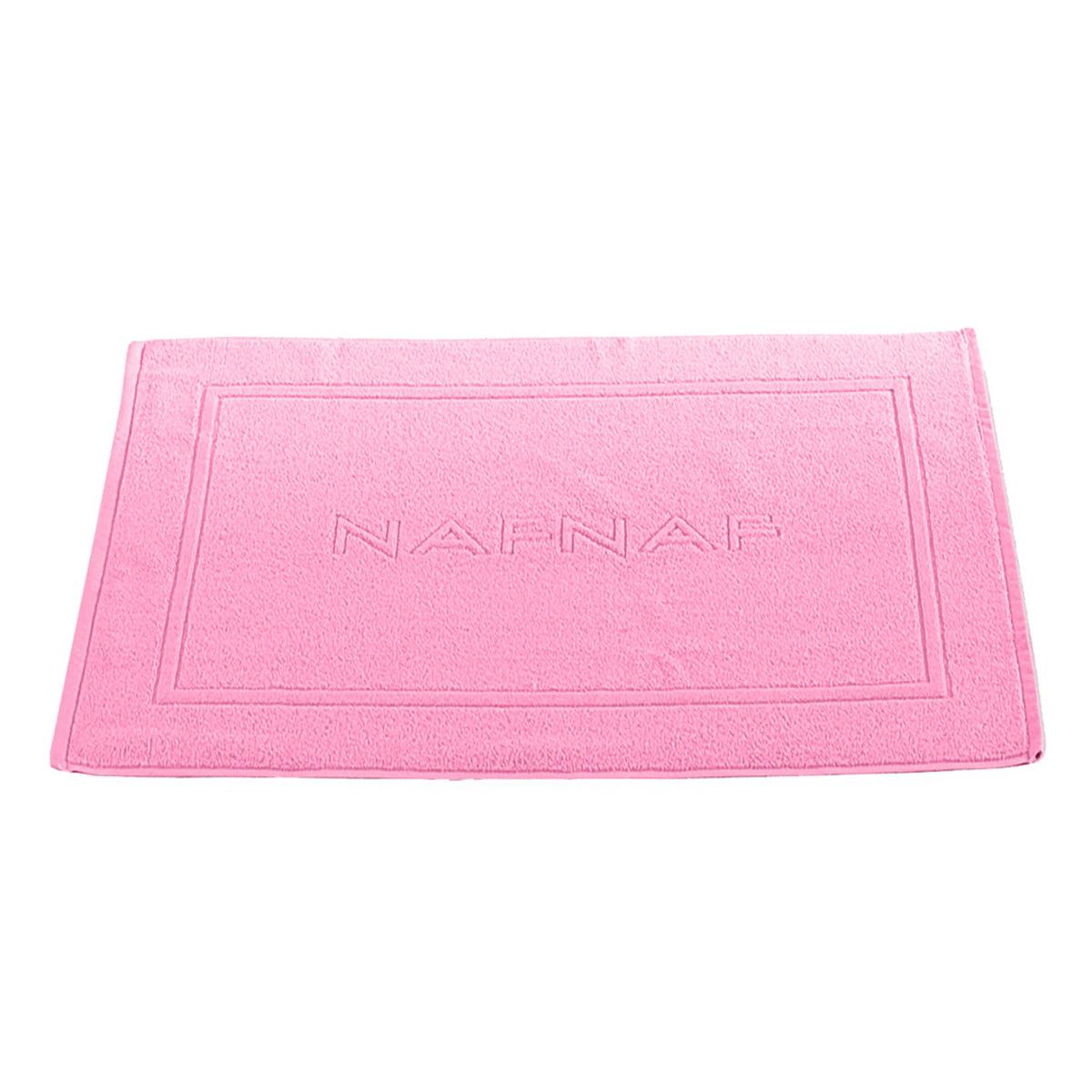 Tapis de bain 750gr/m2 en coton rose 50x80