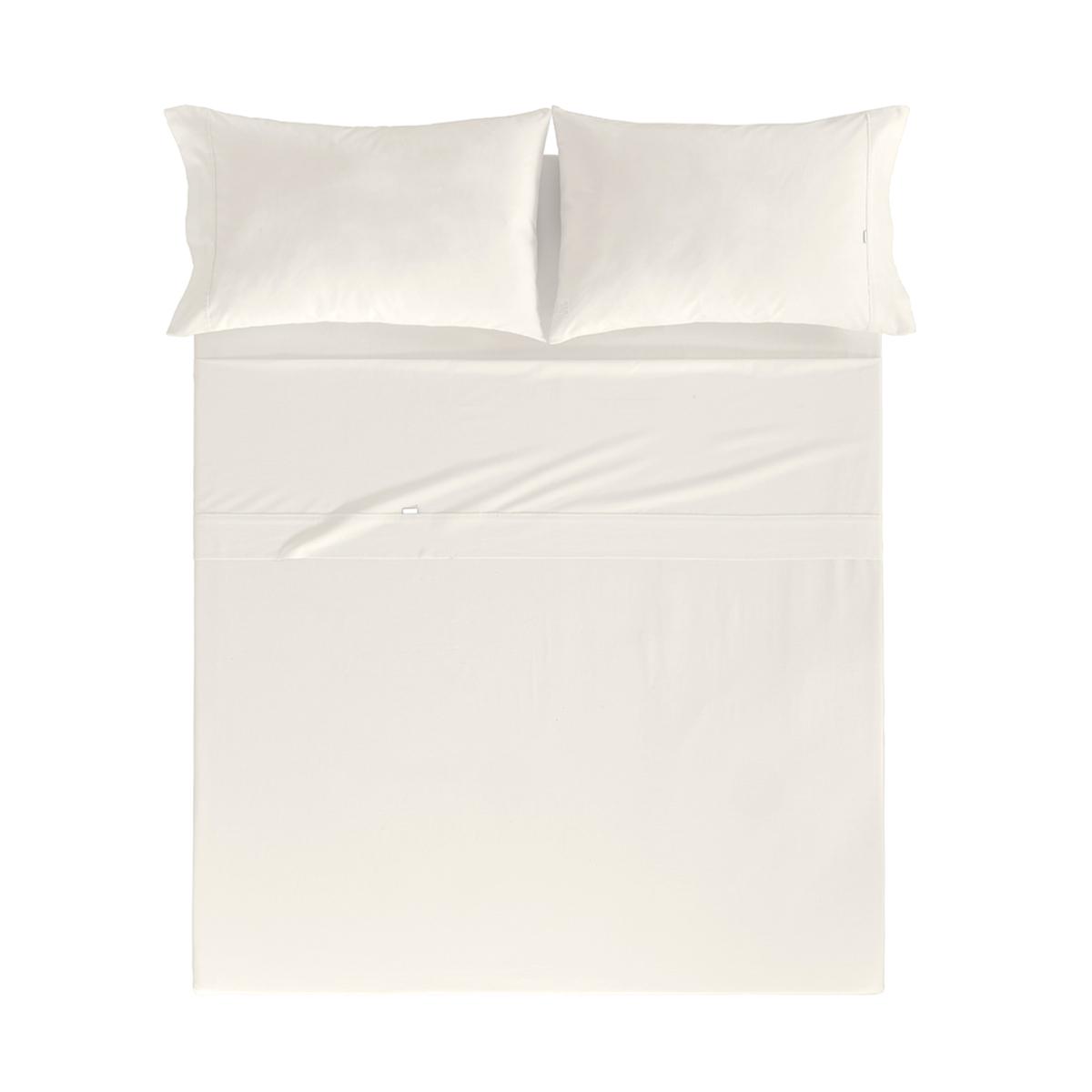 Drap de lit en coton beige 160x280