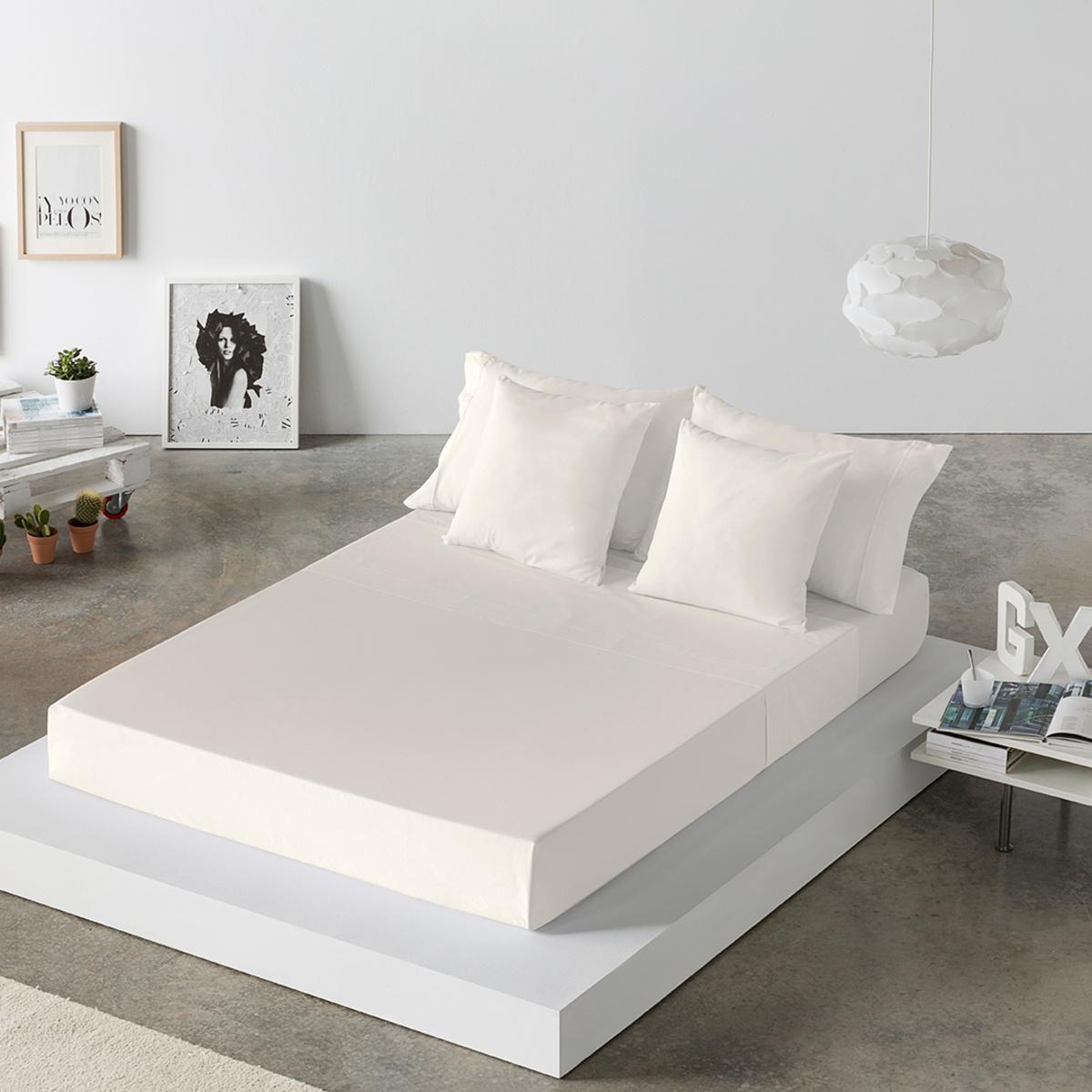 Drap de lit en cotonbeige 250x280